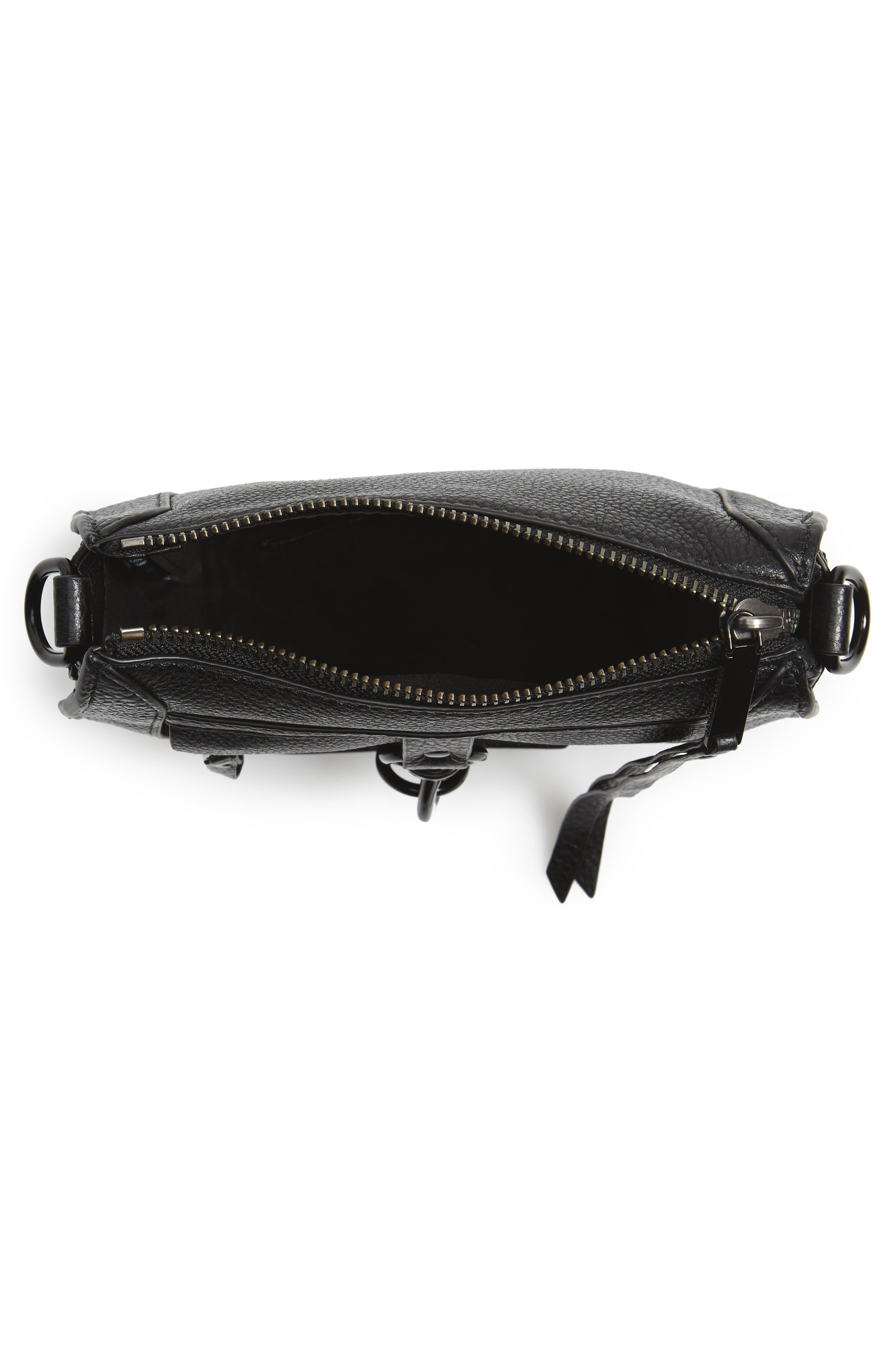 Alternate Image 4  - Rebecca Minkoff Dog Clip Leather & Suede Saddle Bag (Nordstrom Exclusive)