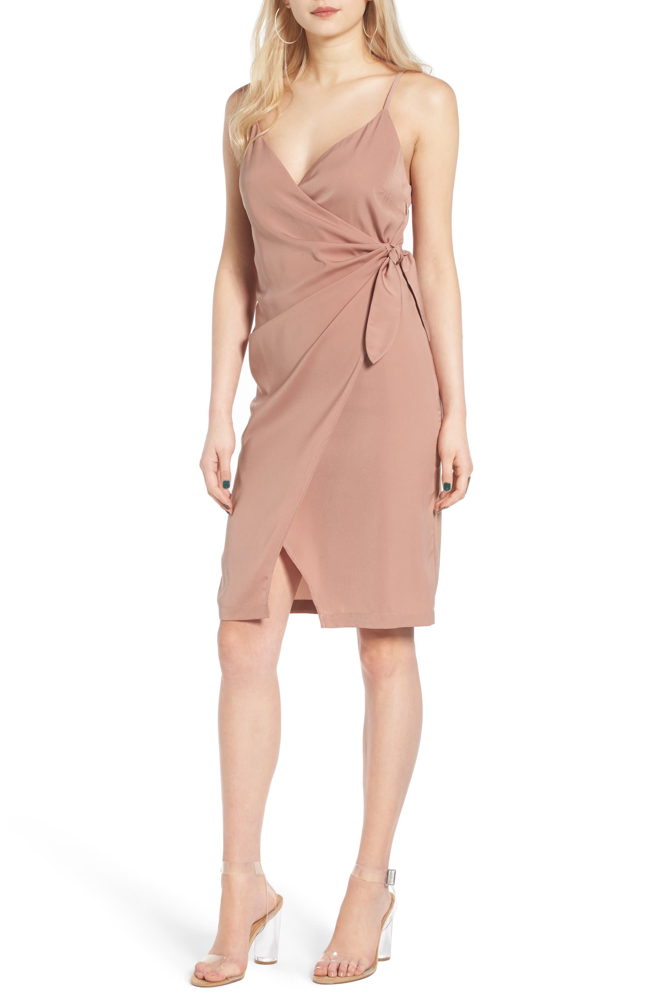 Alternate Image 1 Selected - Leith Satin Wrap Dress