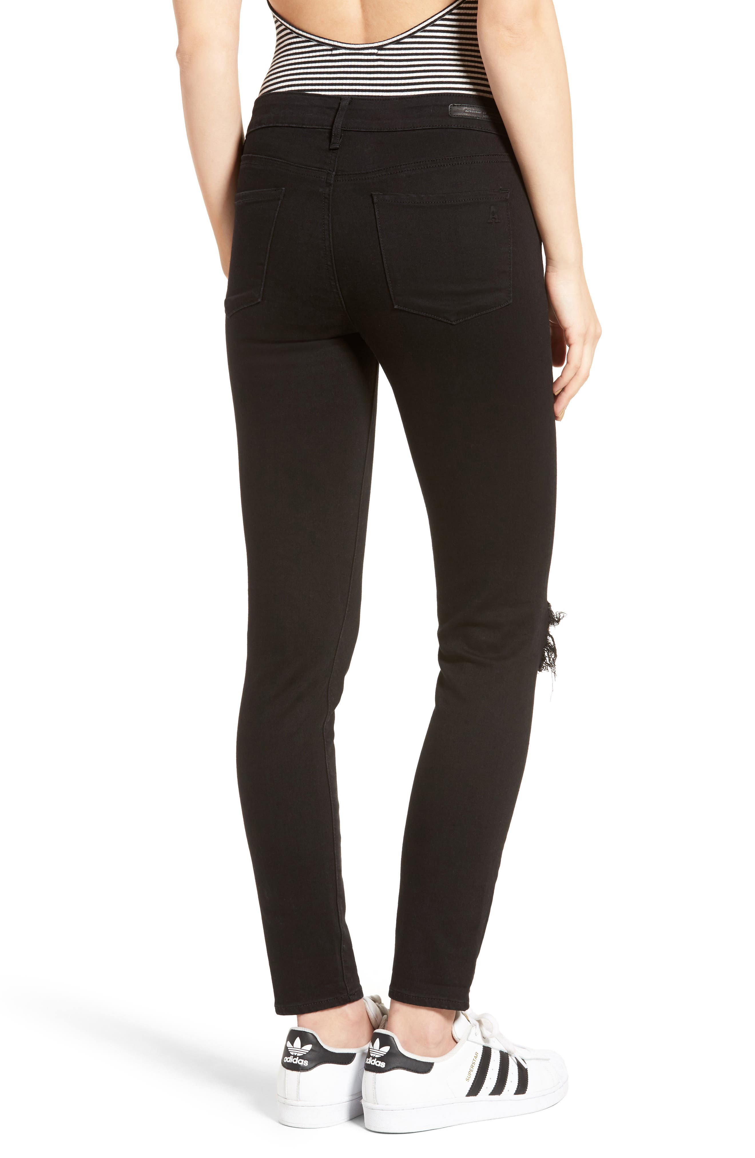Alternate Image 3  - Articles of Society Karen Ripped Crop Skinny Jeans (Carbon)