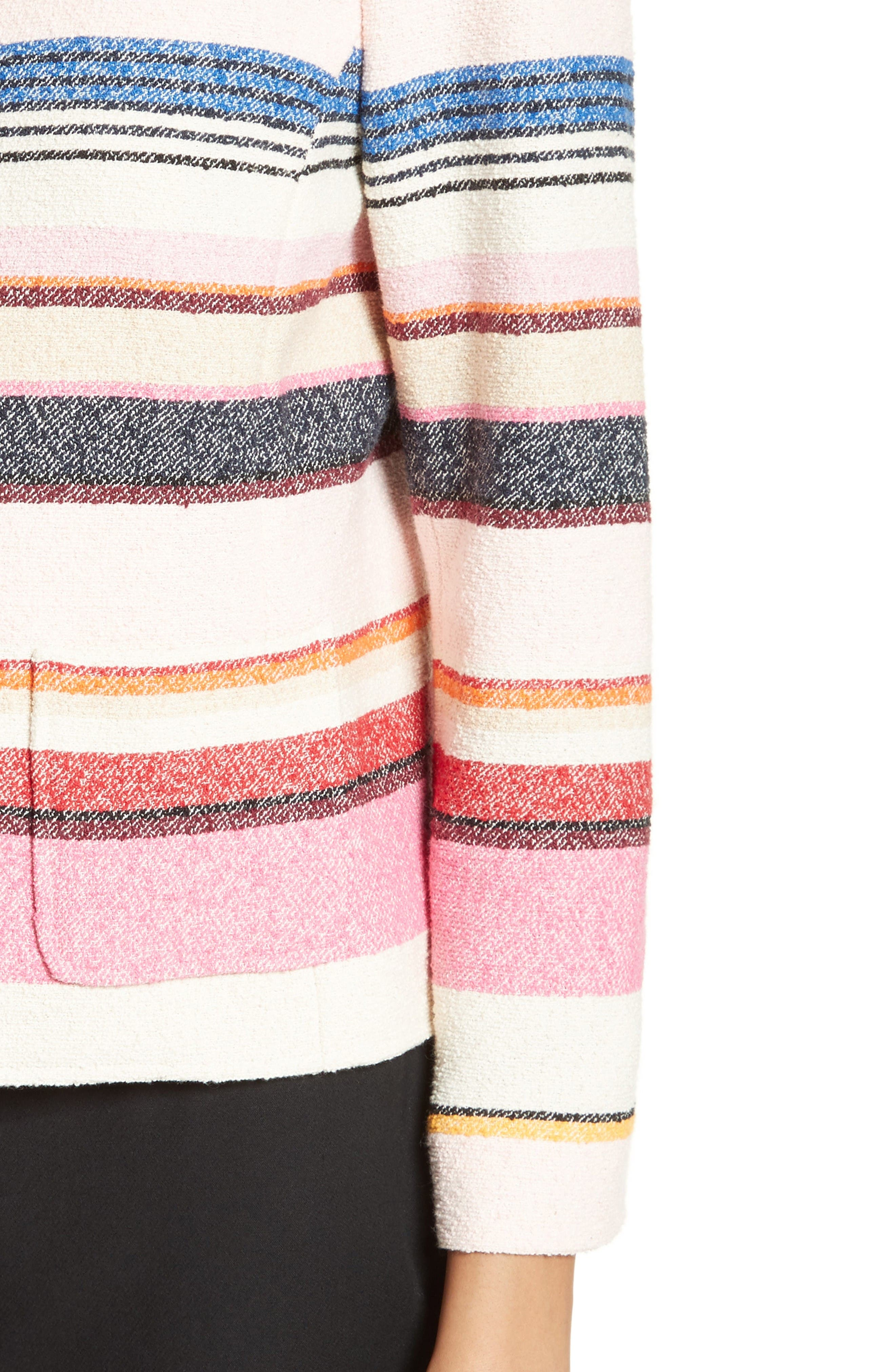 Alternate Image 4  - kate spade new york berber stripe collarless jacket