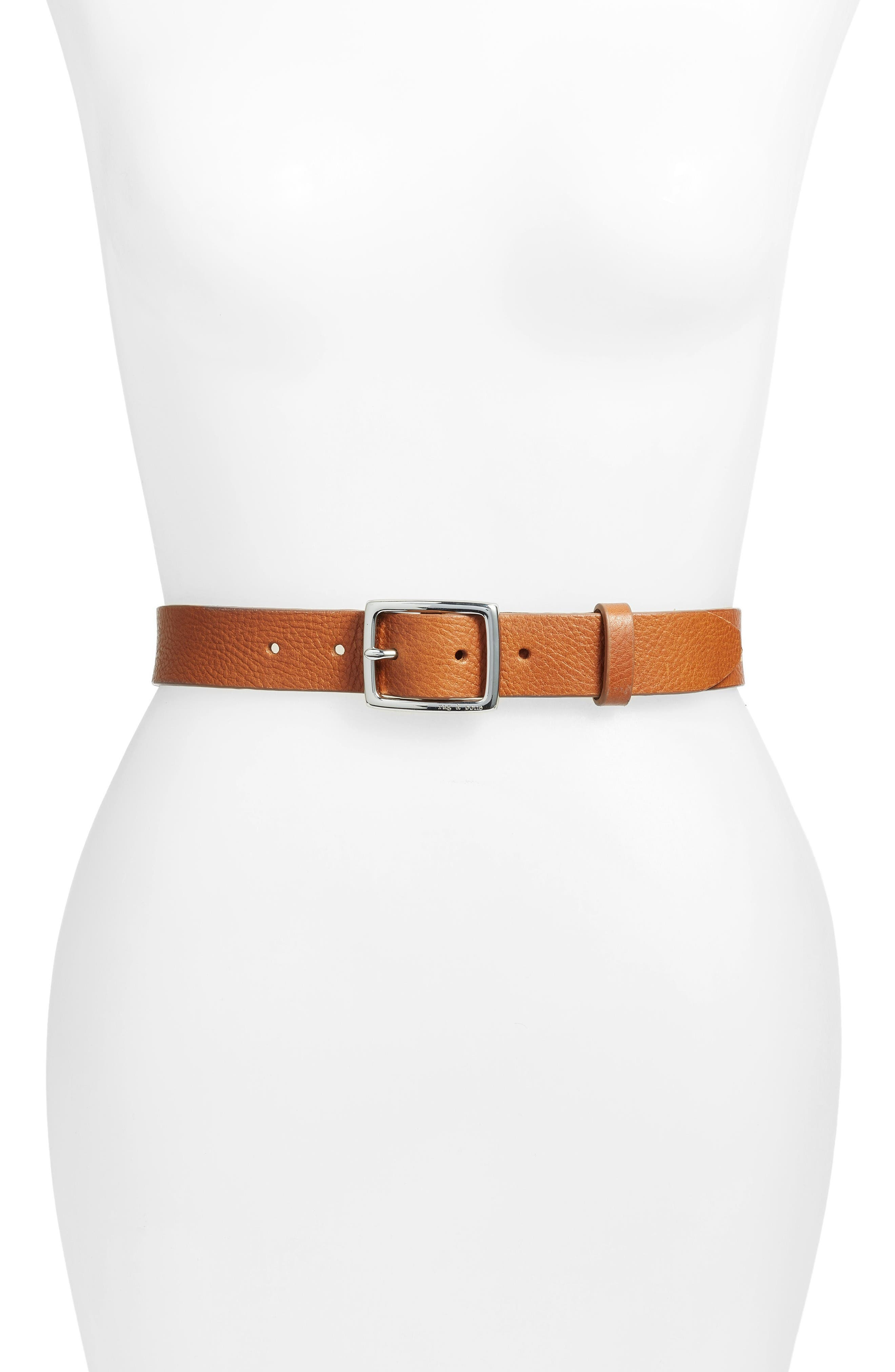 rag & bone 'Boyfriend' Leather Belt