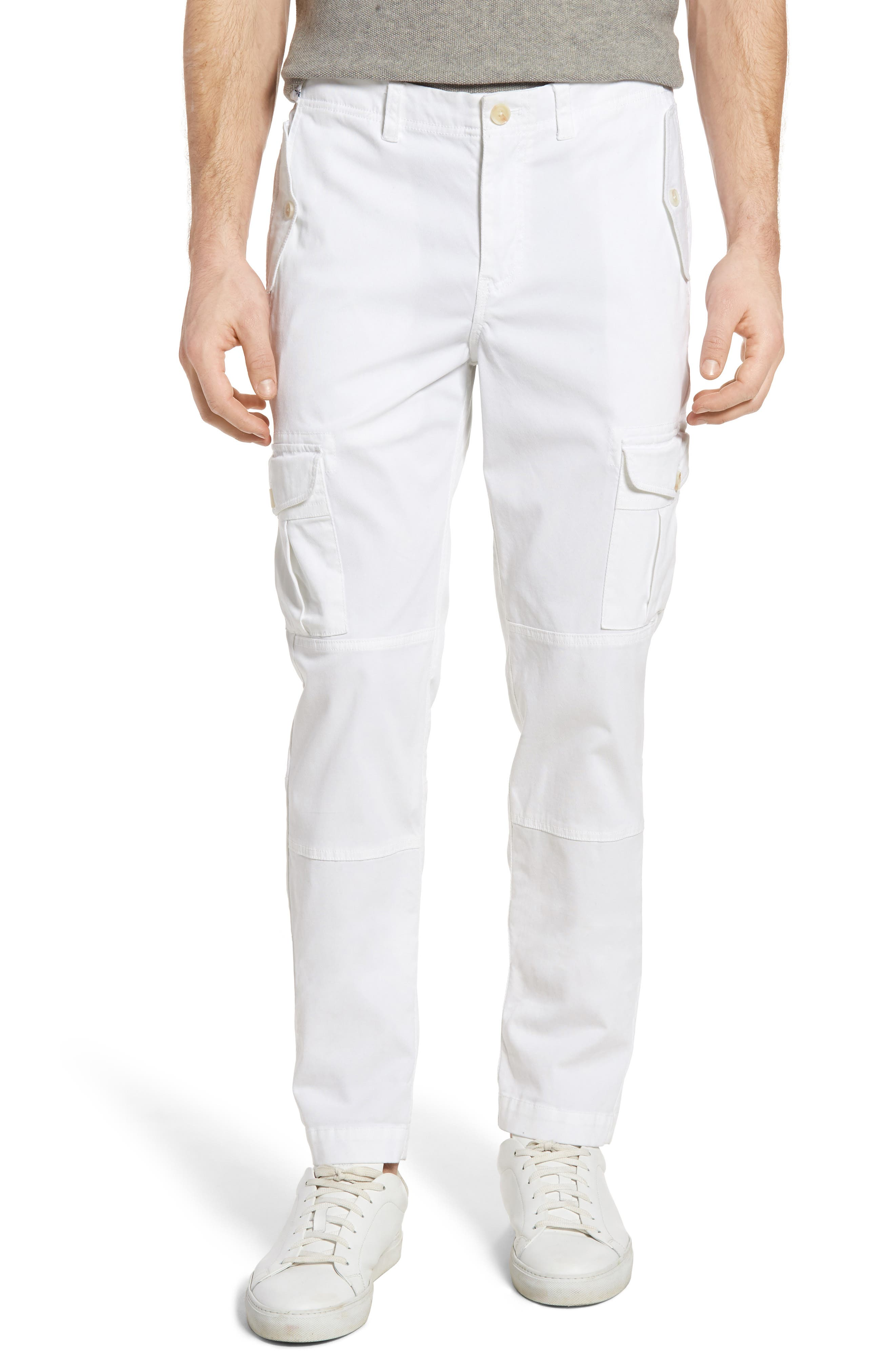 Michael Bastian Straight Fit Garment Dyed Cargo Pants