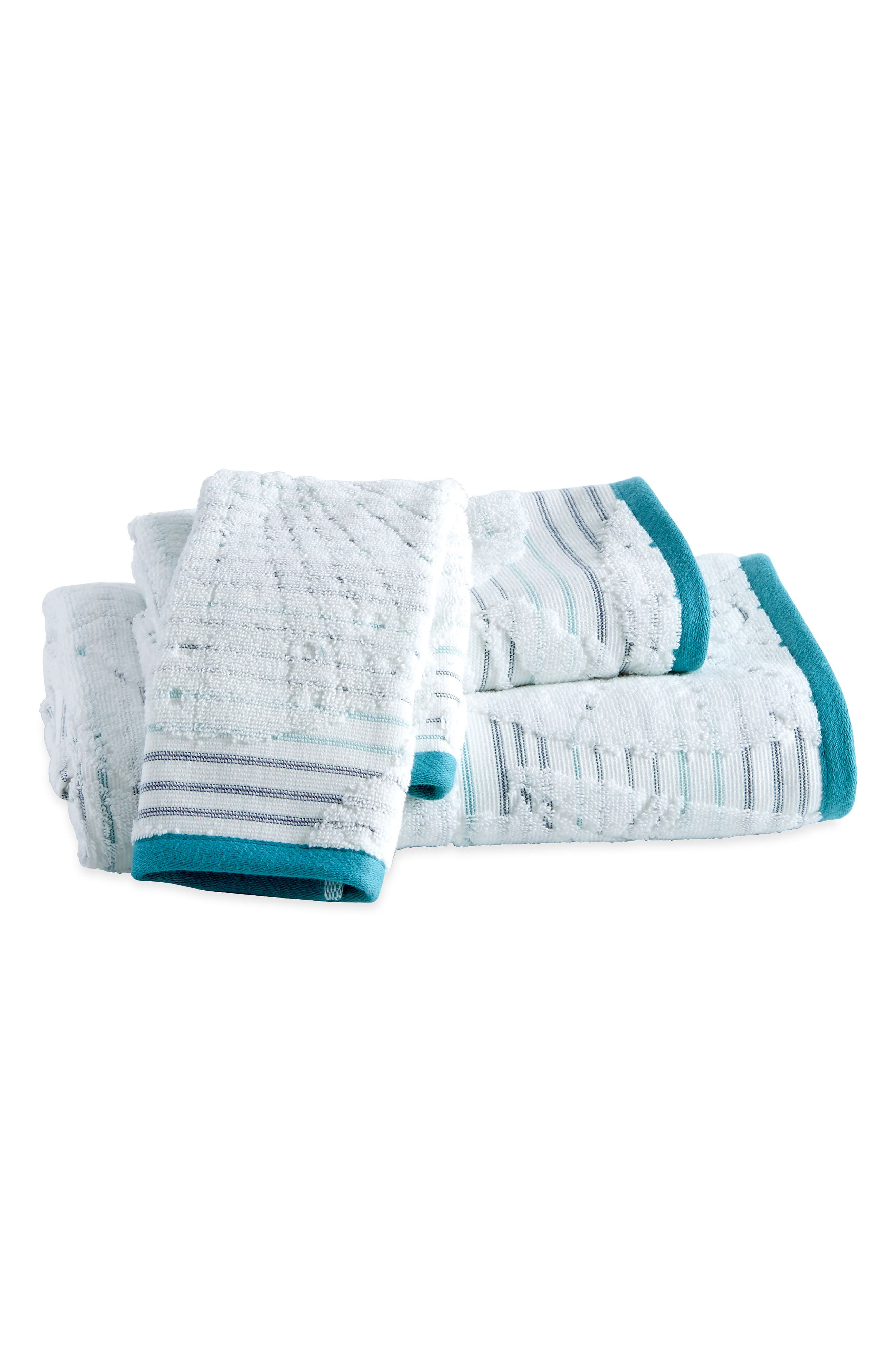 Destinations Mykonos Bath Towel, Hand Towel and Washcloth Set