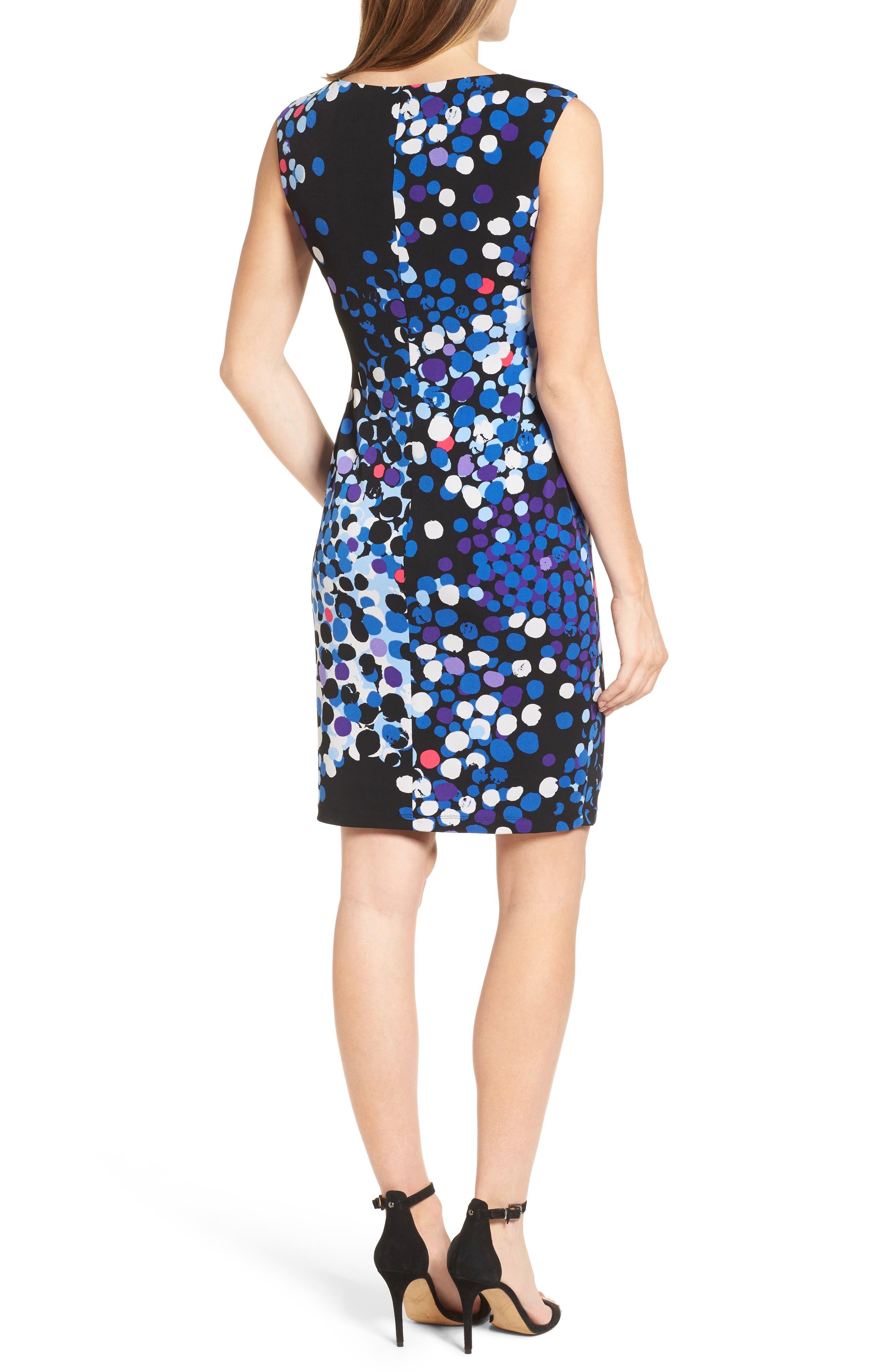 Alternate Image 2  - Anne Klein Side Twist Jersey Sheath Dress