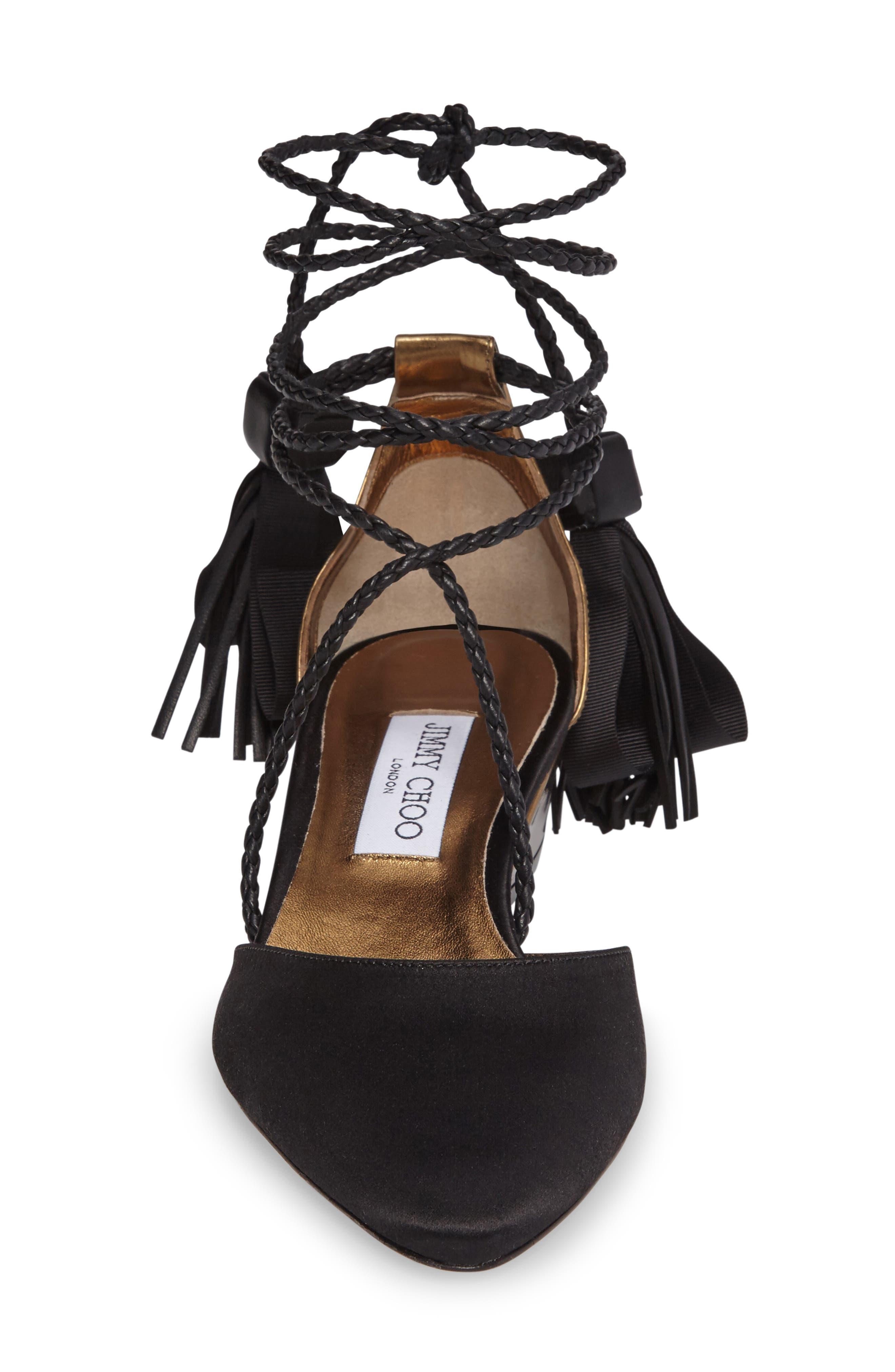 Alternate Image 3  - Jimmy Choo Duchess Ankle Wrap Flat (Women)