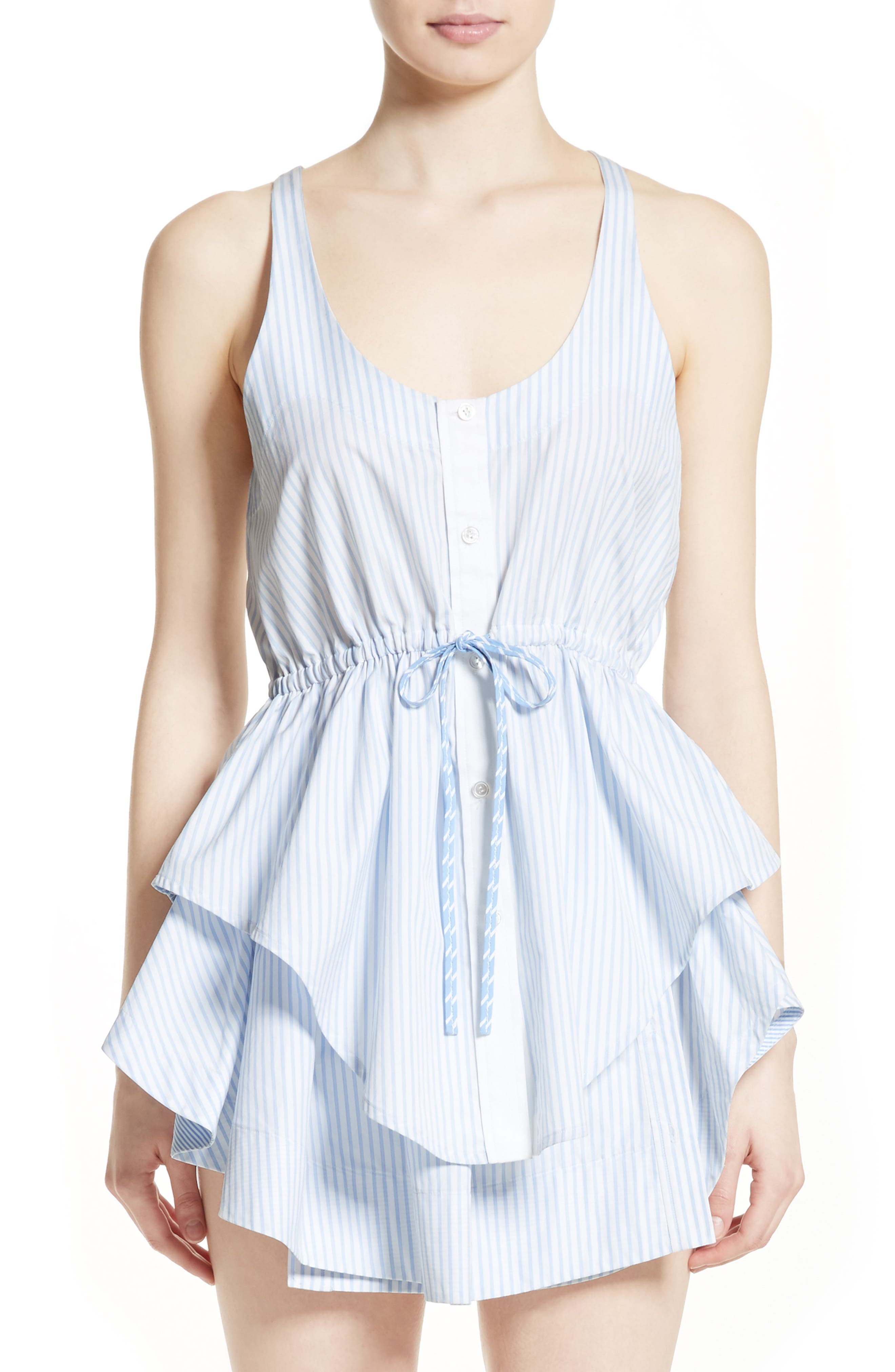 ALEXANDER WANG Stripe Cotton Tank