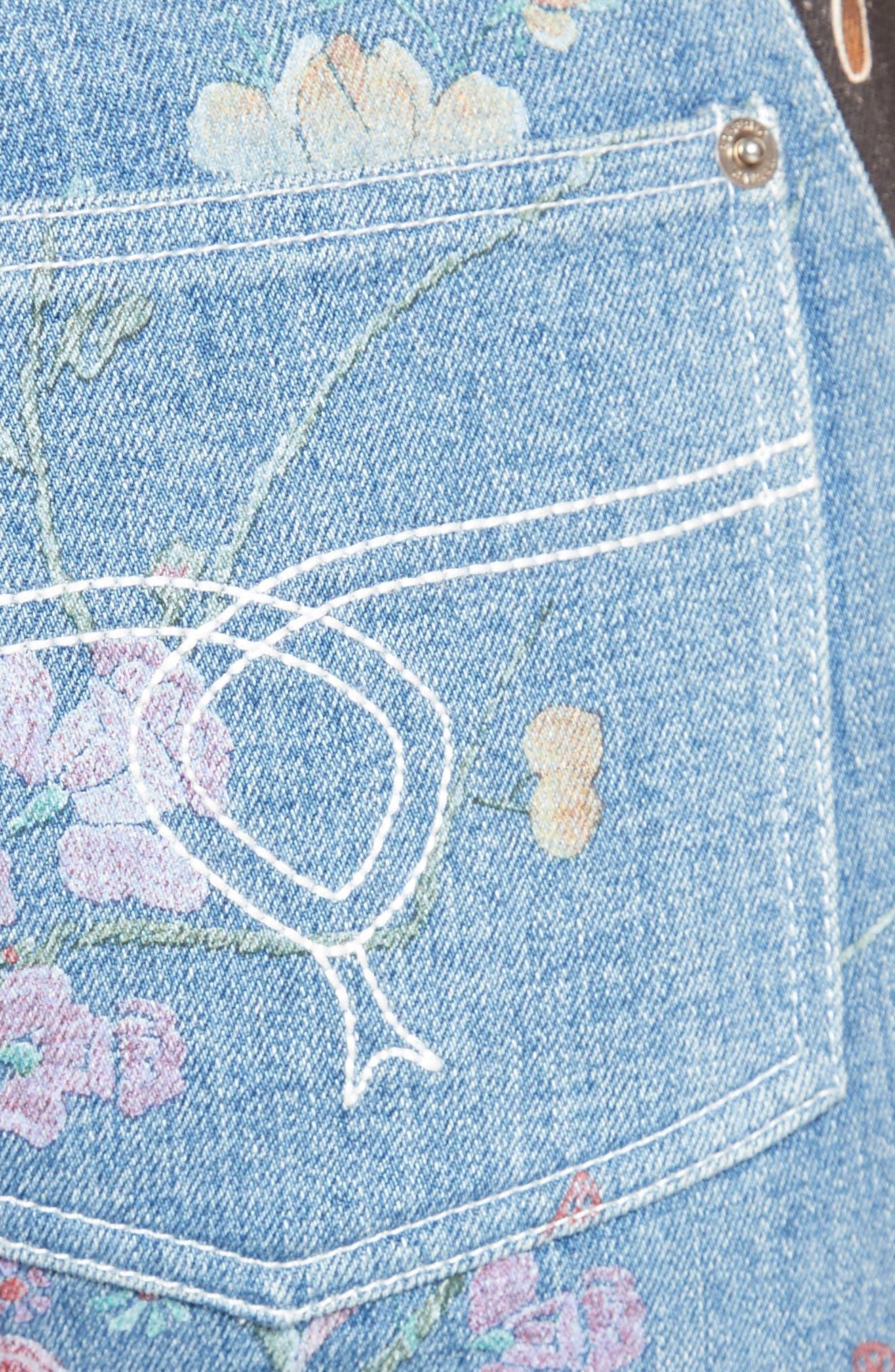 Alternate Image 3  - Roberto Cavalli Patchwork Denim Flare Jeans