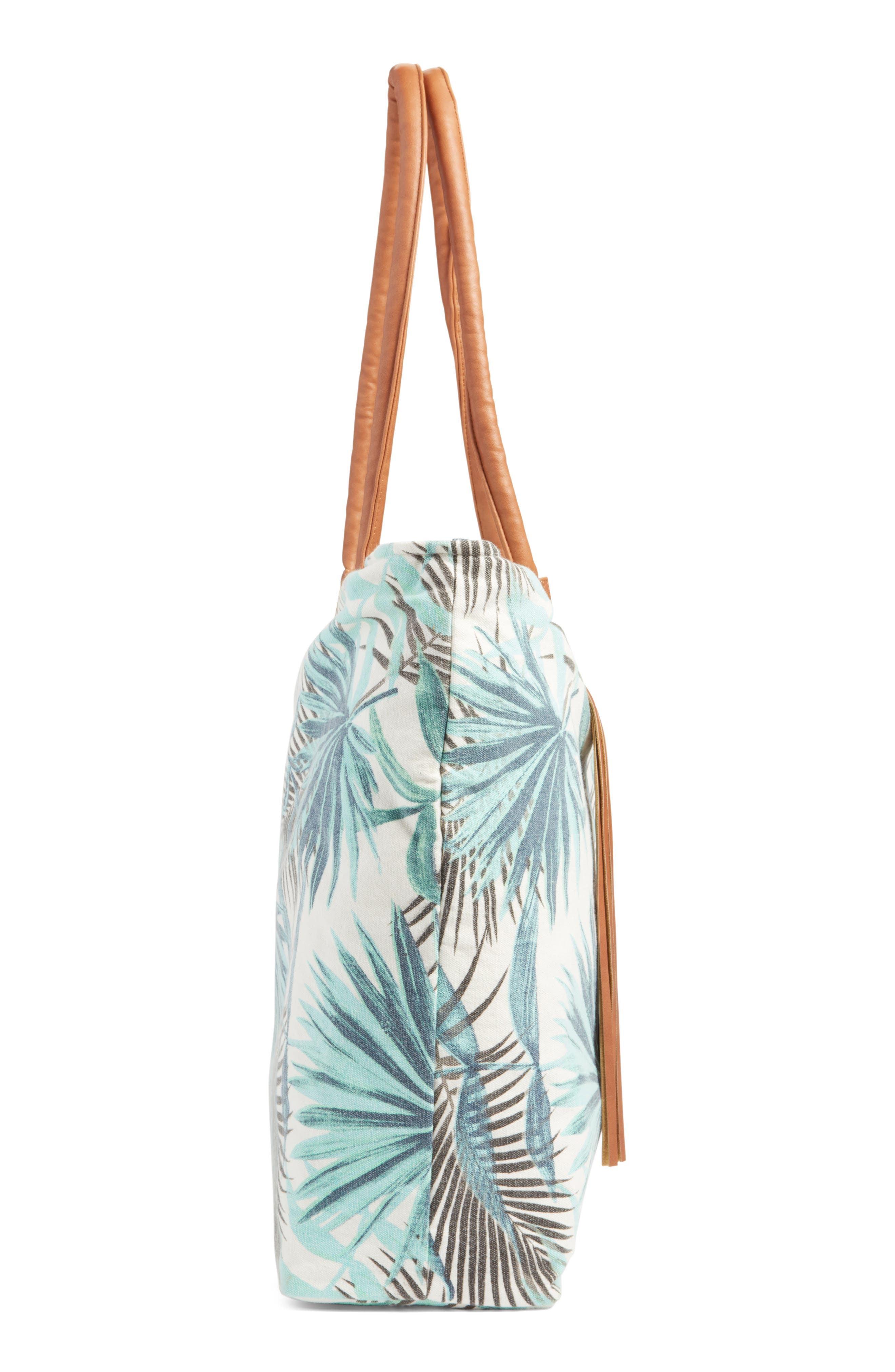 Alternate Image 5  - Rip Curl Palm Print Beach Tote
