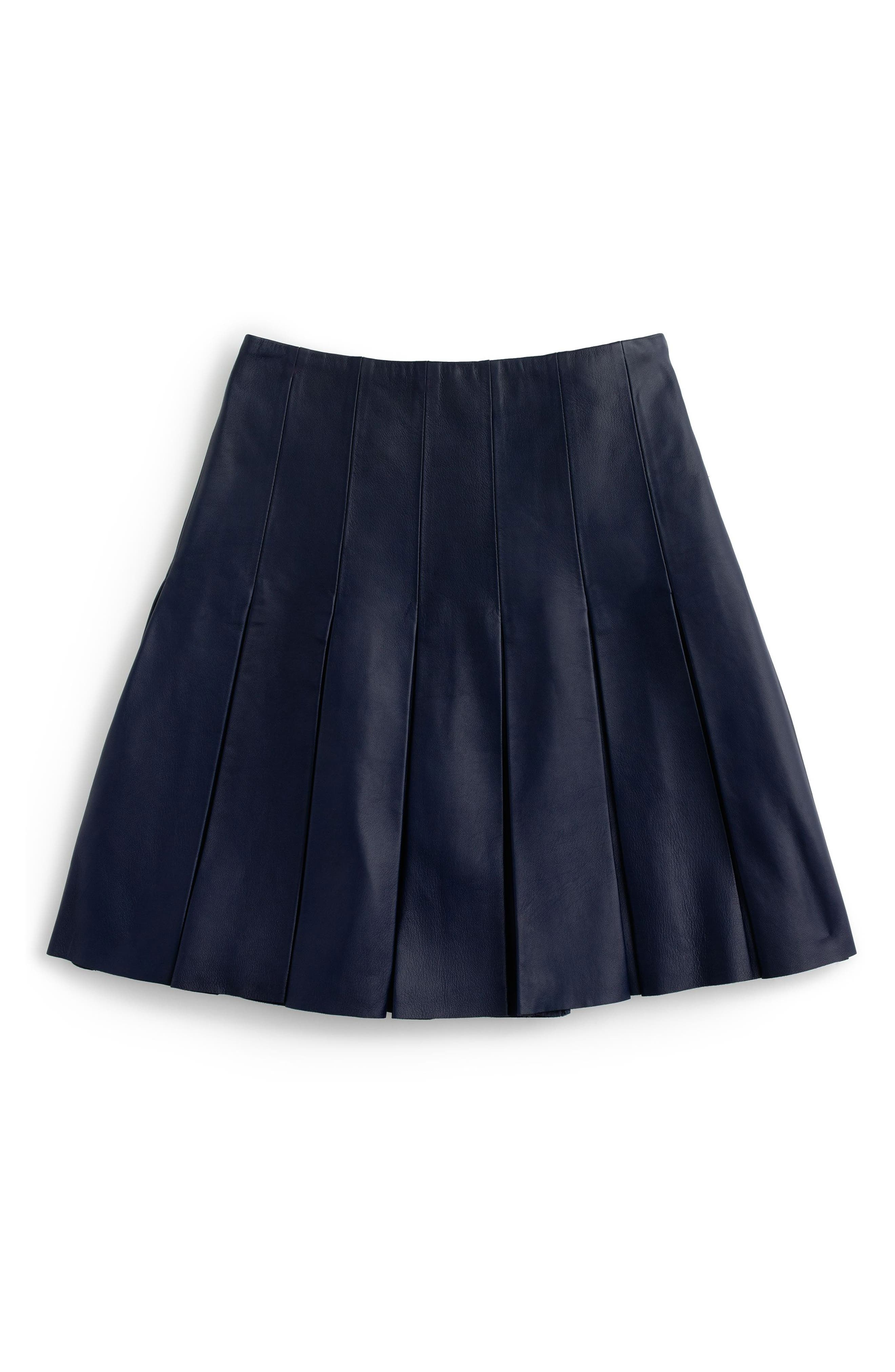 Alternate Image 3  - J.Crew Collection Drop Pleat Leather Skirt