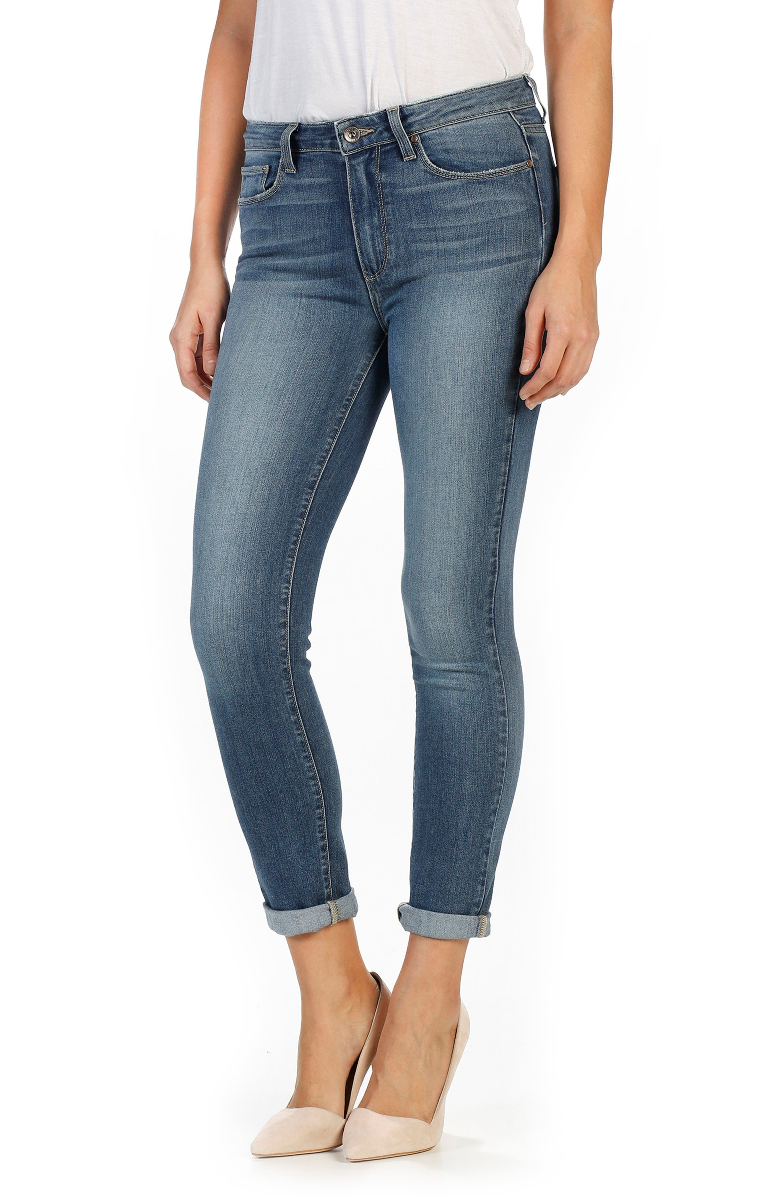 Alternate Image 1 Selected - PAIGE Transcend - Hoxton High Waist Crop Skinny Jeans (Kalina)