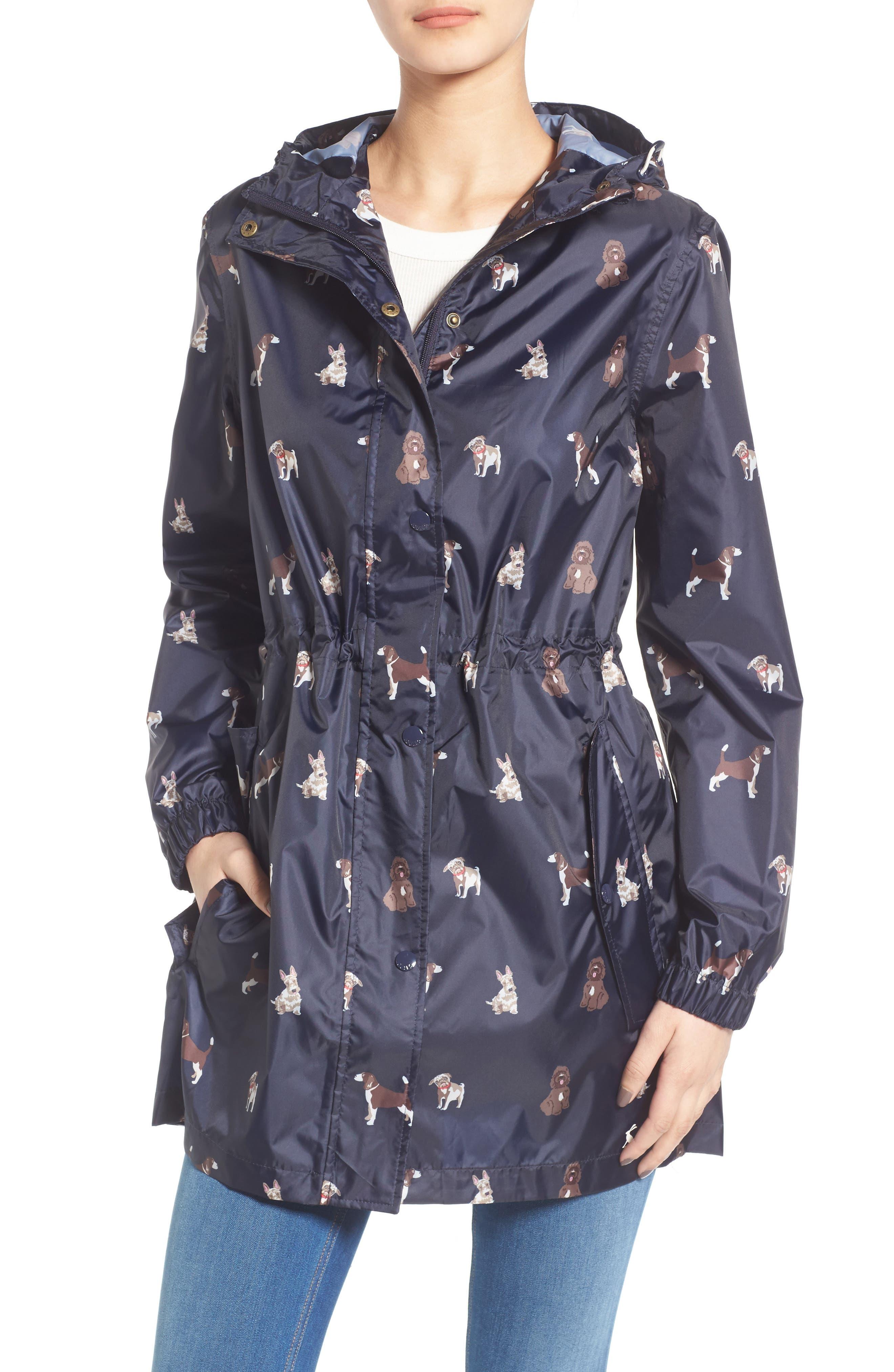 Alternate Image 1 Selected - Joules Right as Rain Packable Print Hooded Raincoat