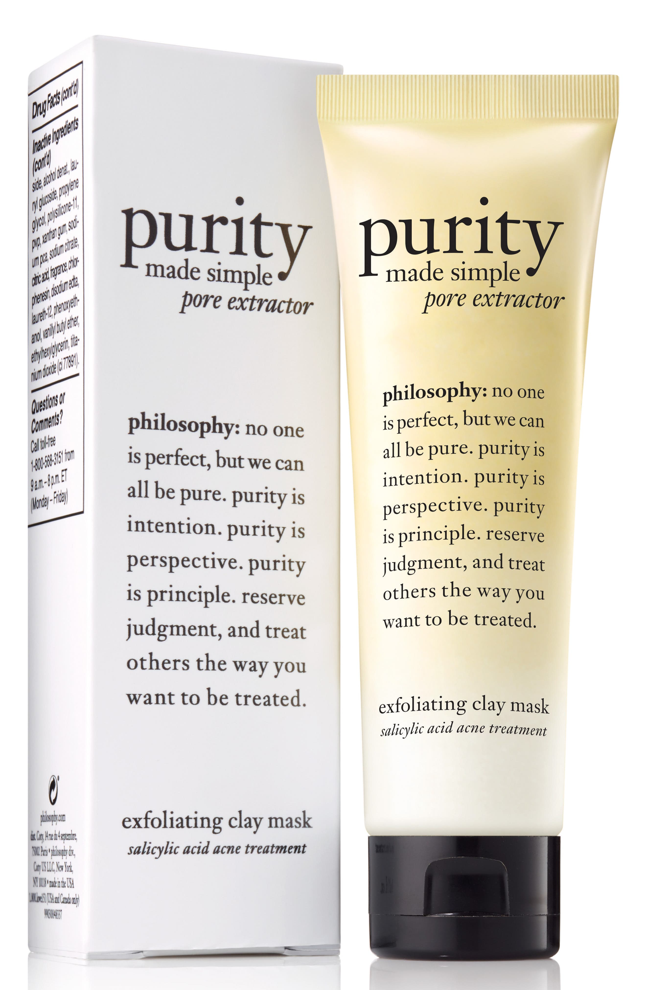 philosophy purity made simple pore extractor clay mask