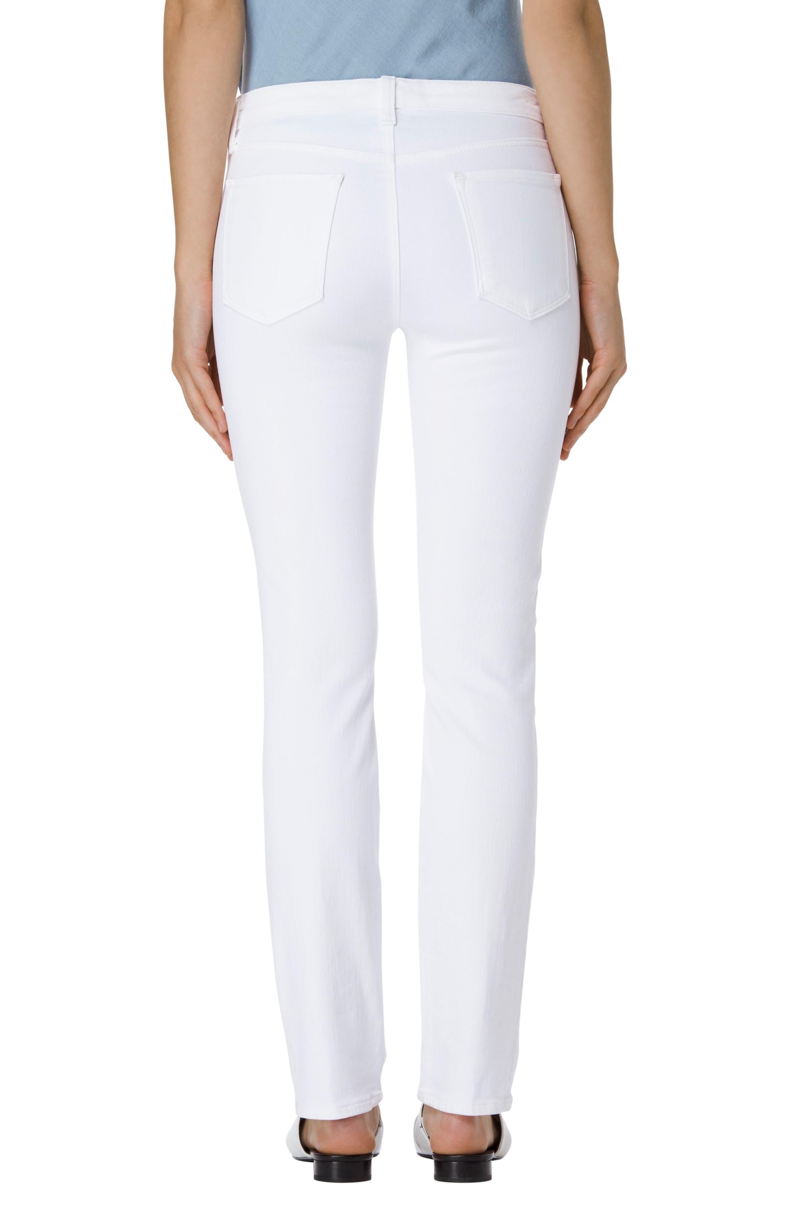 Alternate Image 2  - J Brand Amelia Straight Leg Jeans (Blanc)