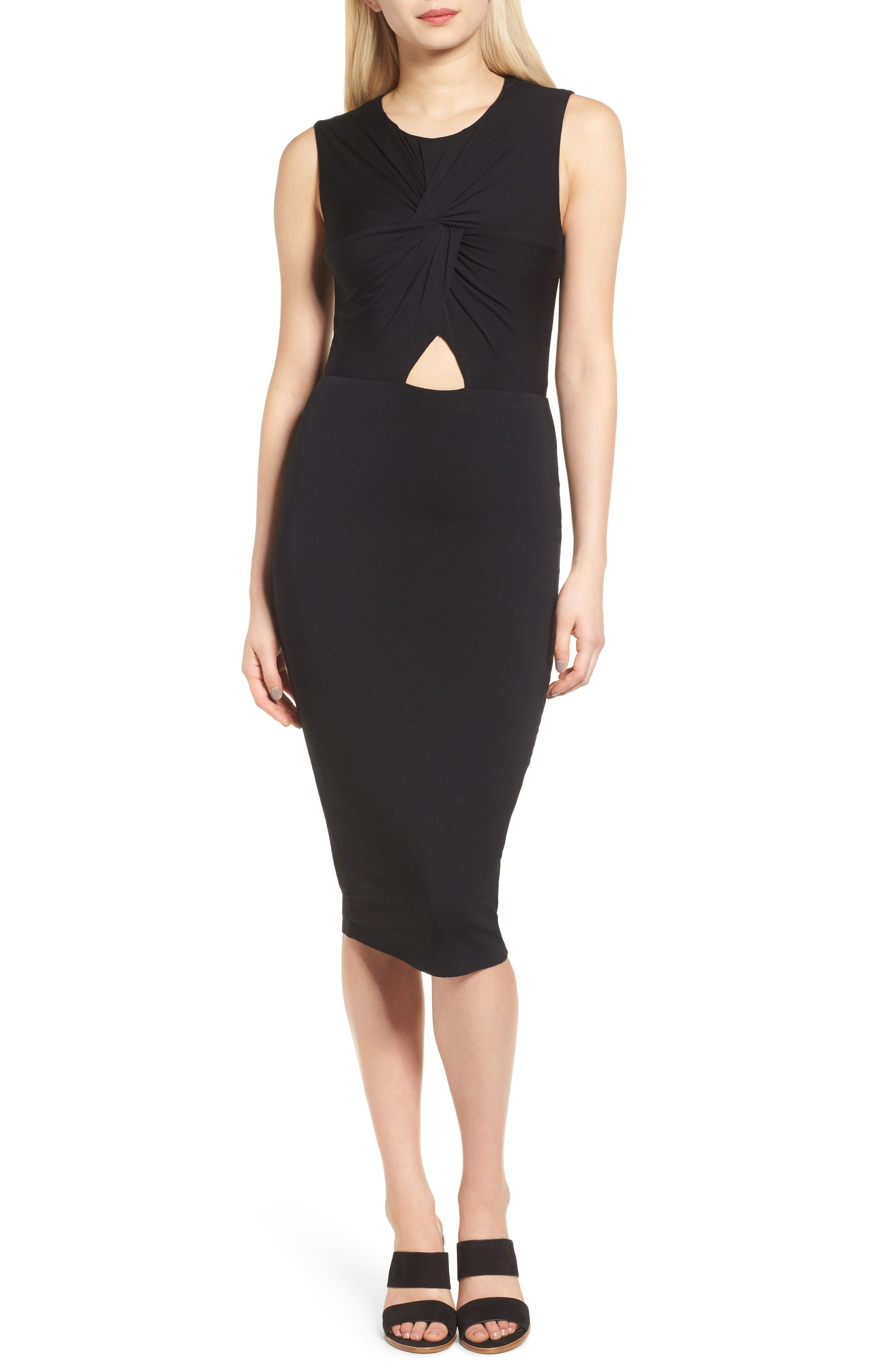 Bailey 44 Twist Front Midi Dress