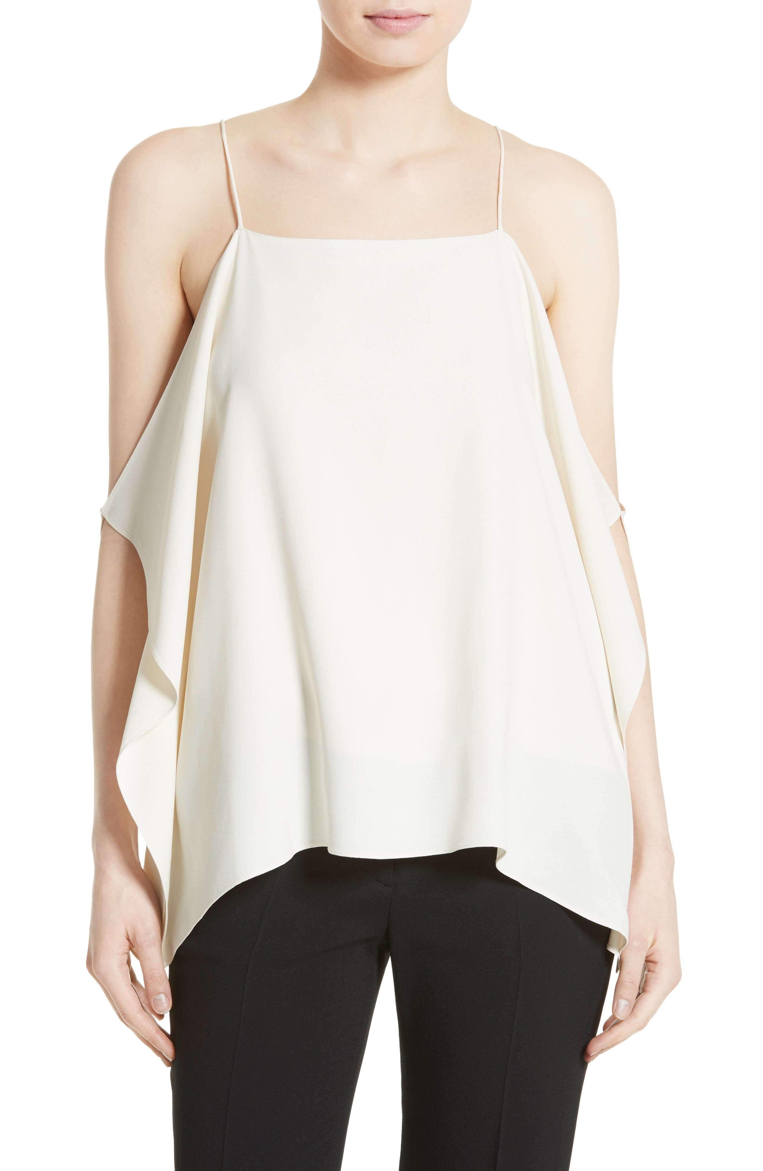 Theory Petteri Rosina Crepe Cold Shoulder Top