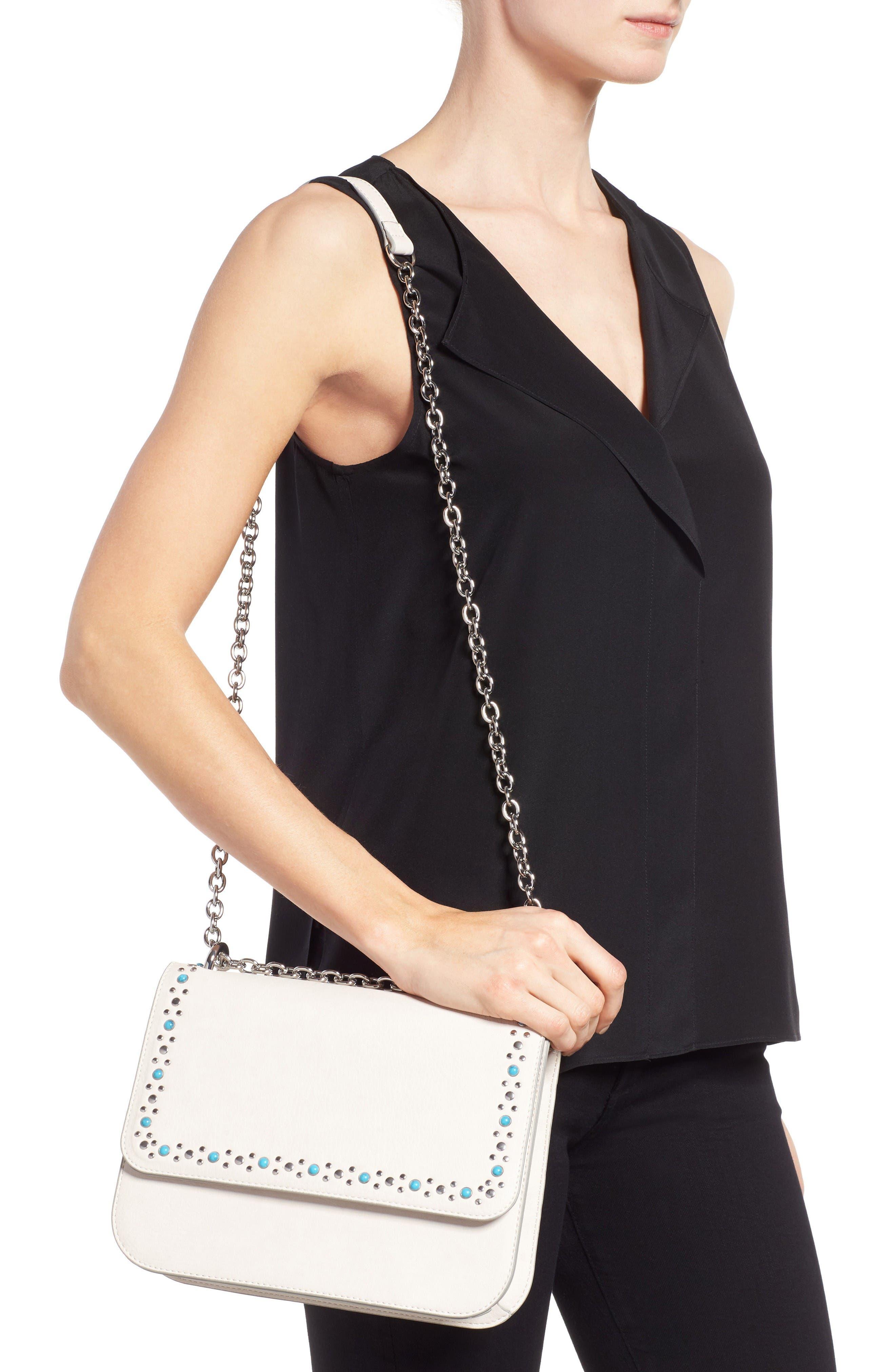 Alternate Image 2  - Chelsea28 Dahlia Stone Faux Leather Crossbody Bag