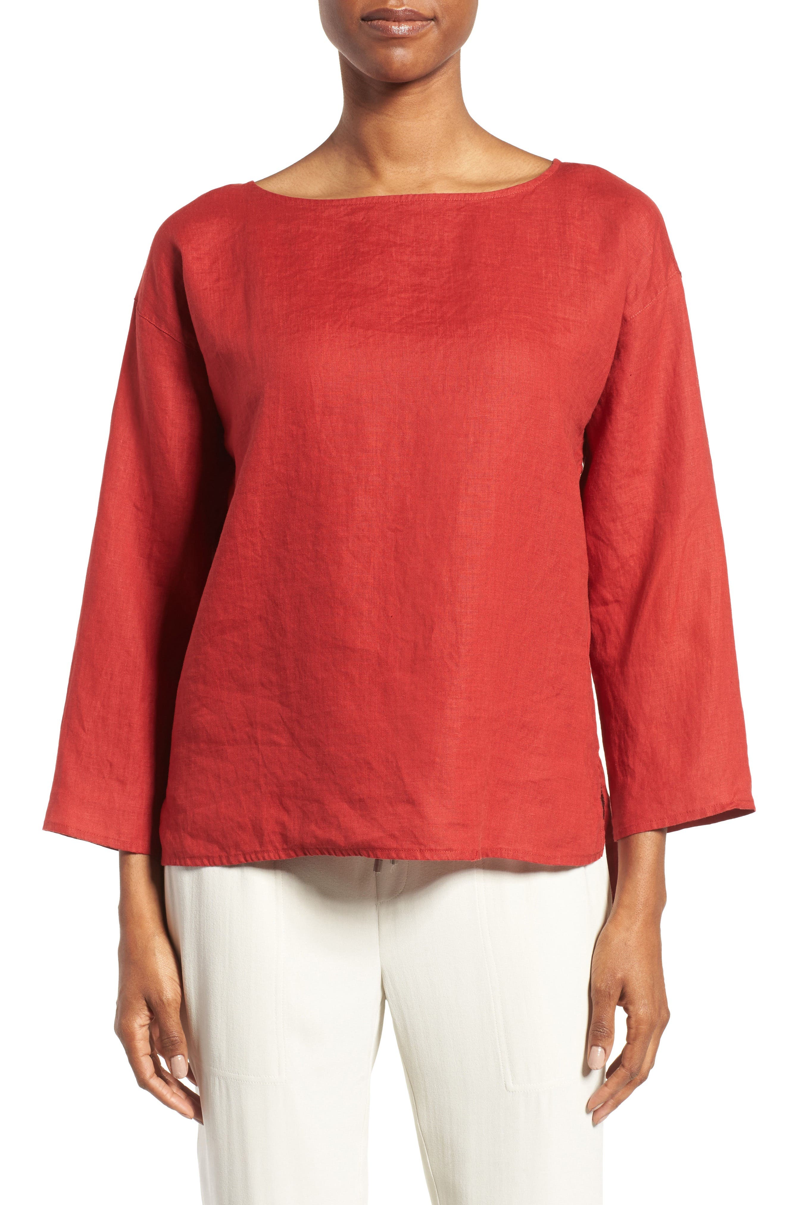 EILEEN FISHER Organic Handkerchief Linen Top