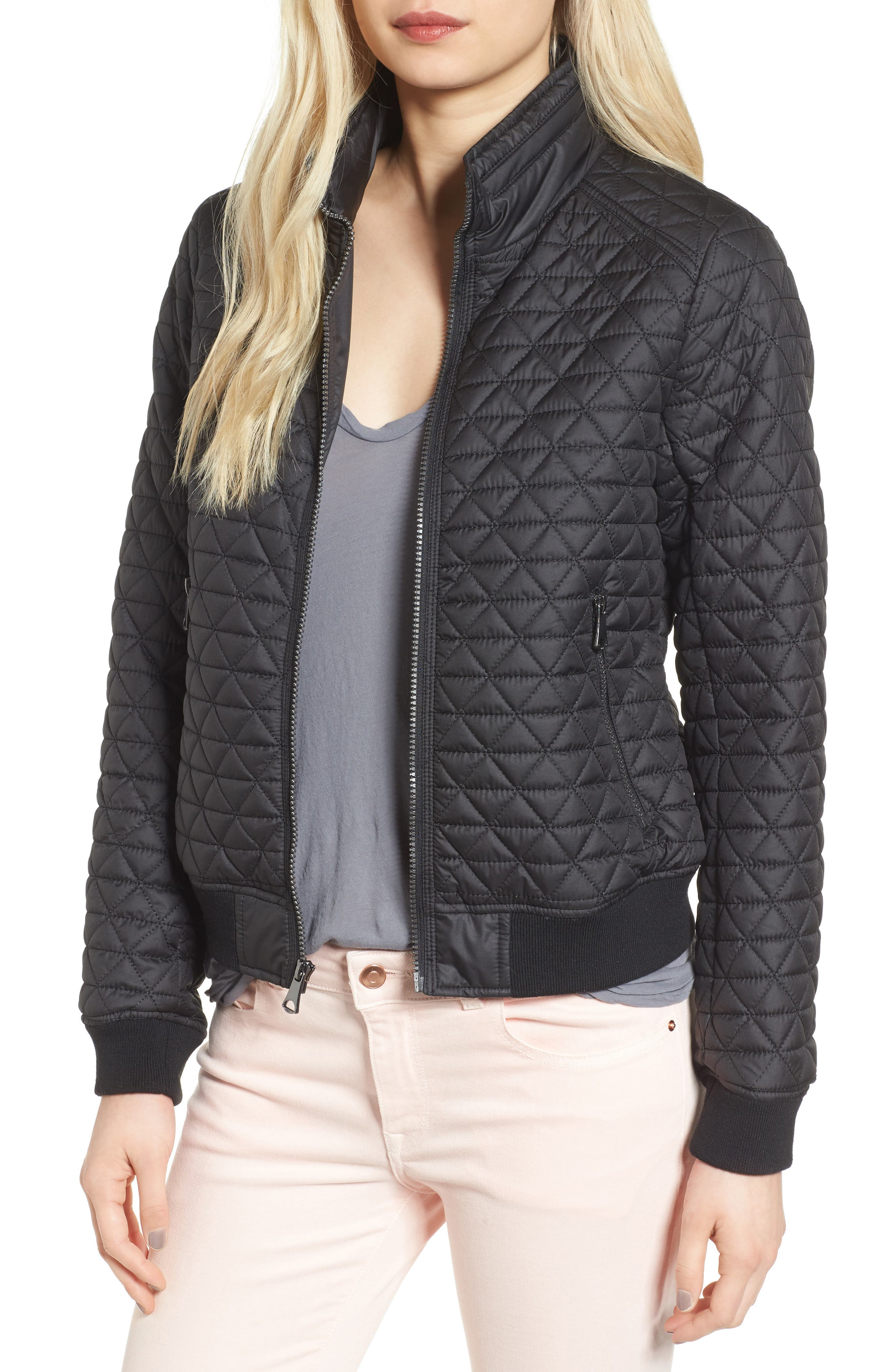 Andrew Marc Oakley Oversized Quilted Jacket