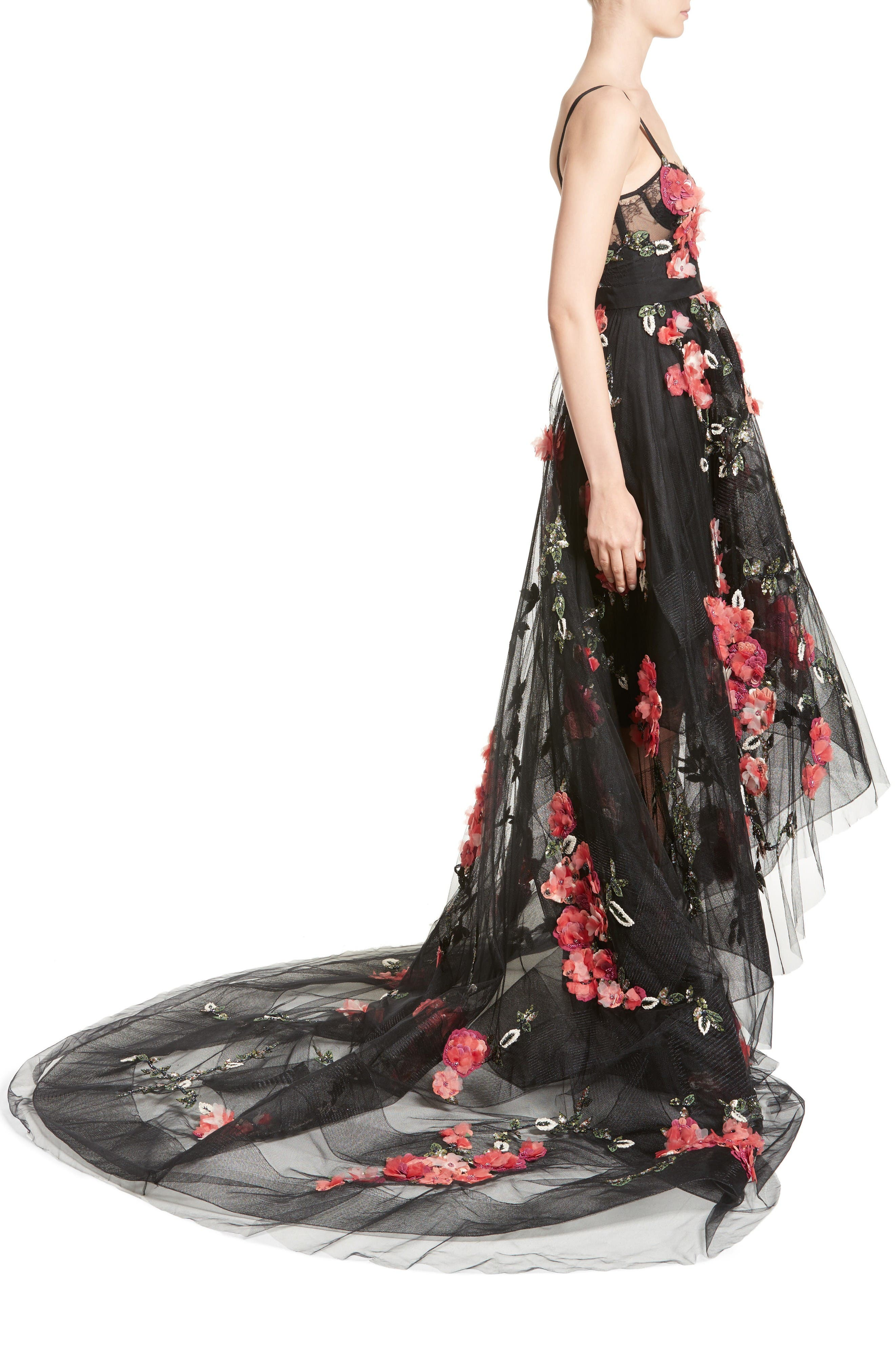 Alternate Image 4  - Marchesa Embellished Tulle Gown