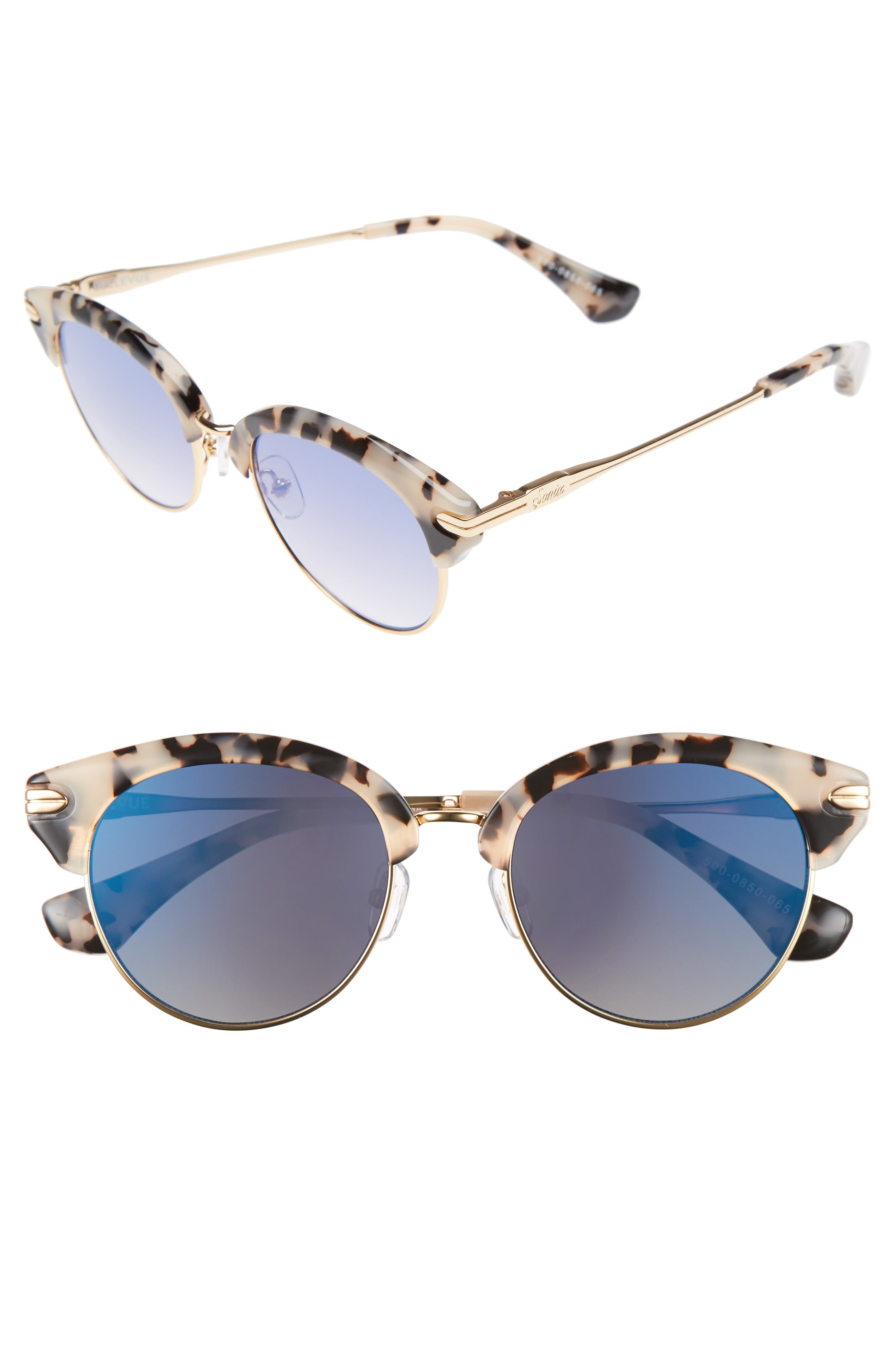 Sonix Bellevue 50mm Mirrored Sunglasses