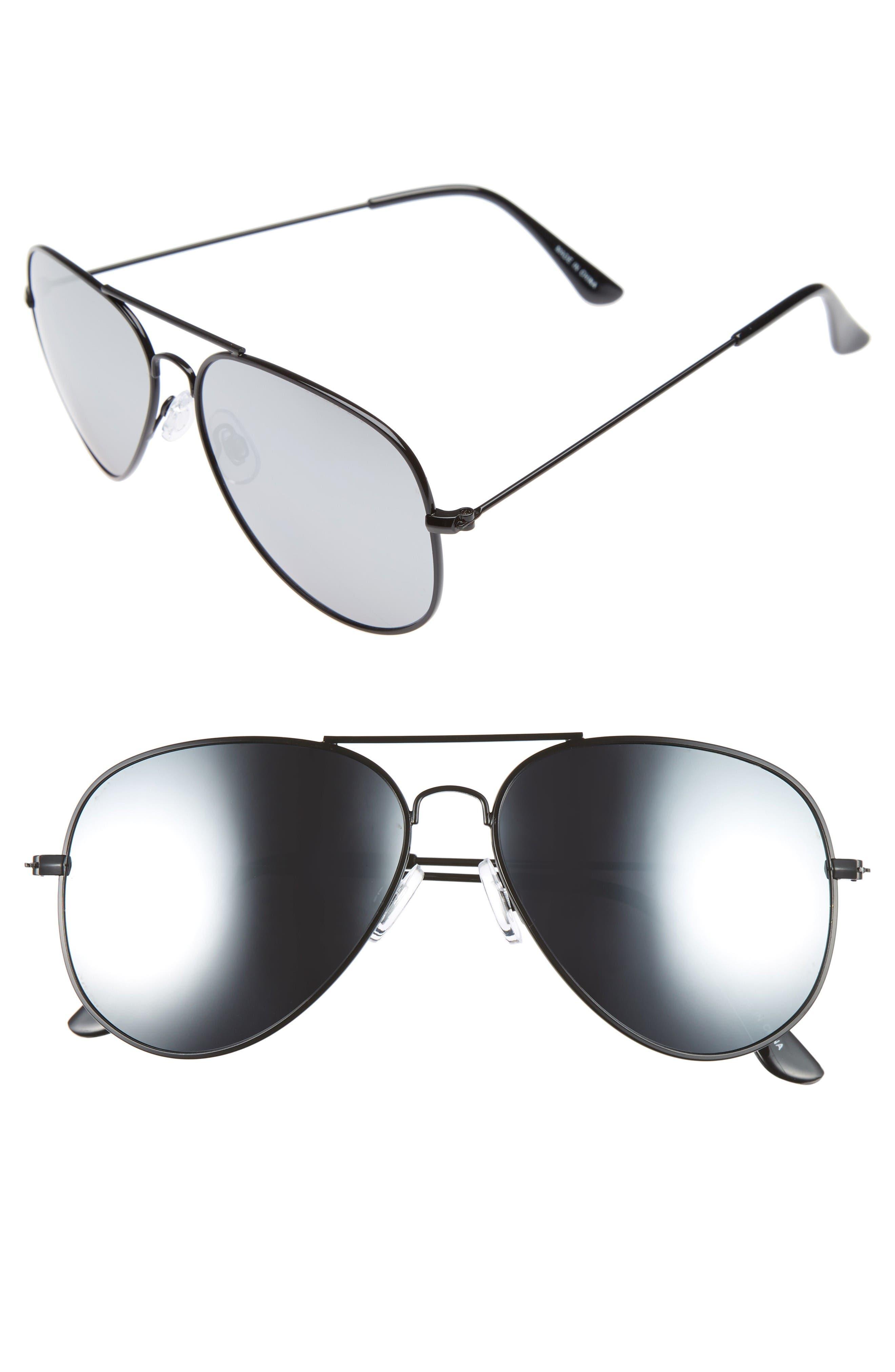 Alternate Image 1 Selected - BP. Mirrored Aviator 57mm Sunglasses