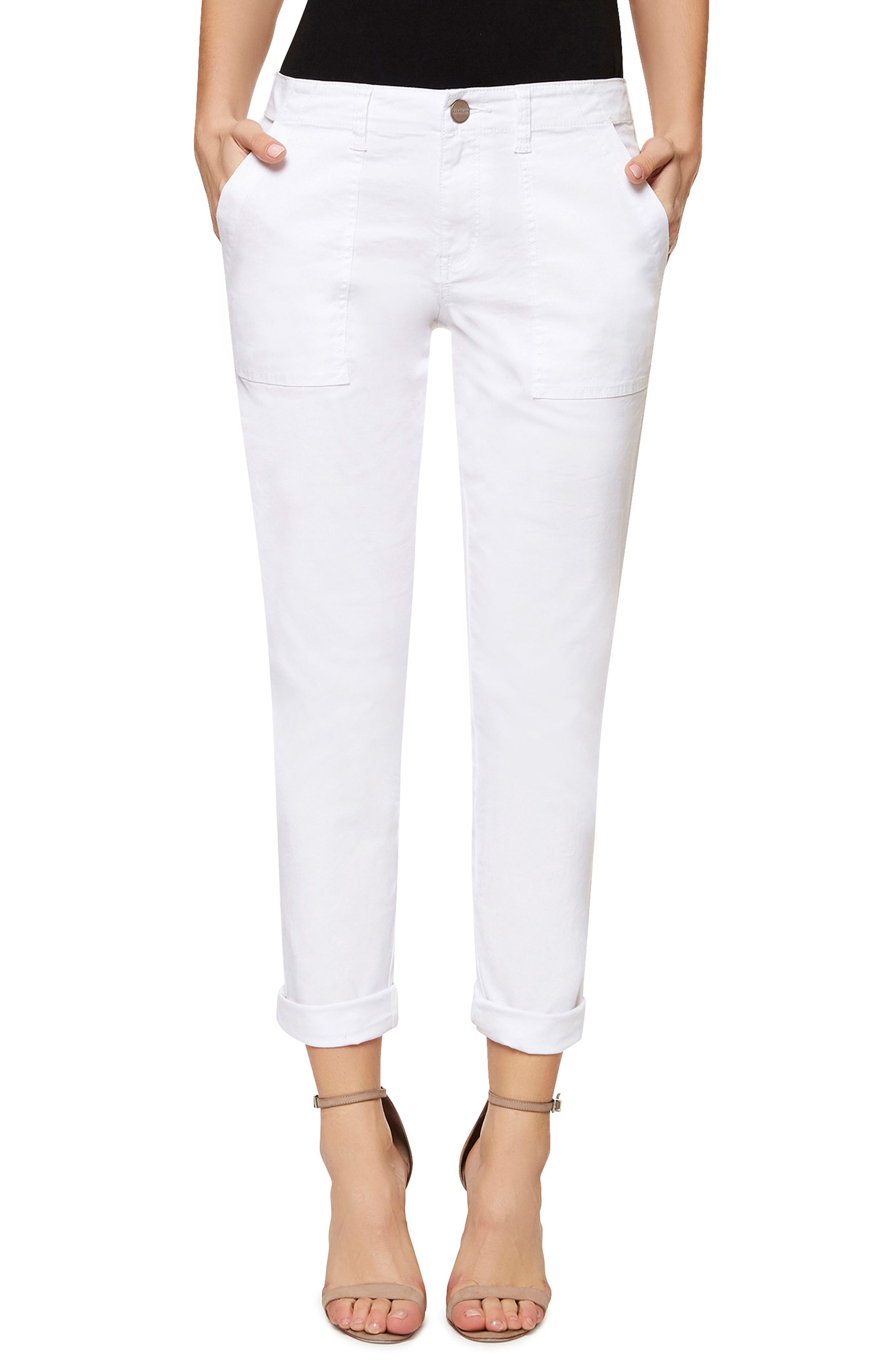 White Cropped Pants for Women: Jeans, Print, Capri & More | Nordstrom