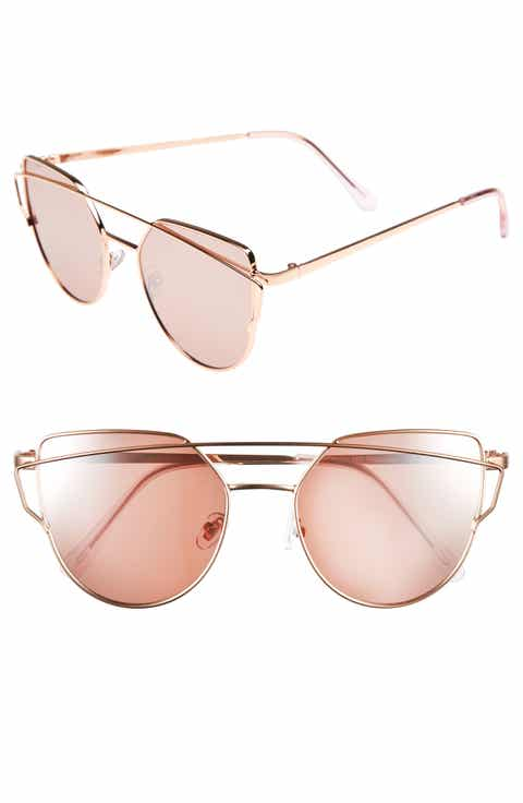 BP. 51mm Thin Brow Angular Aviator Sunglasses