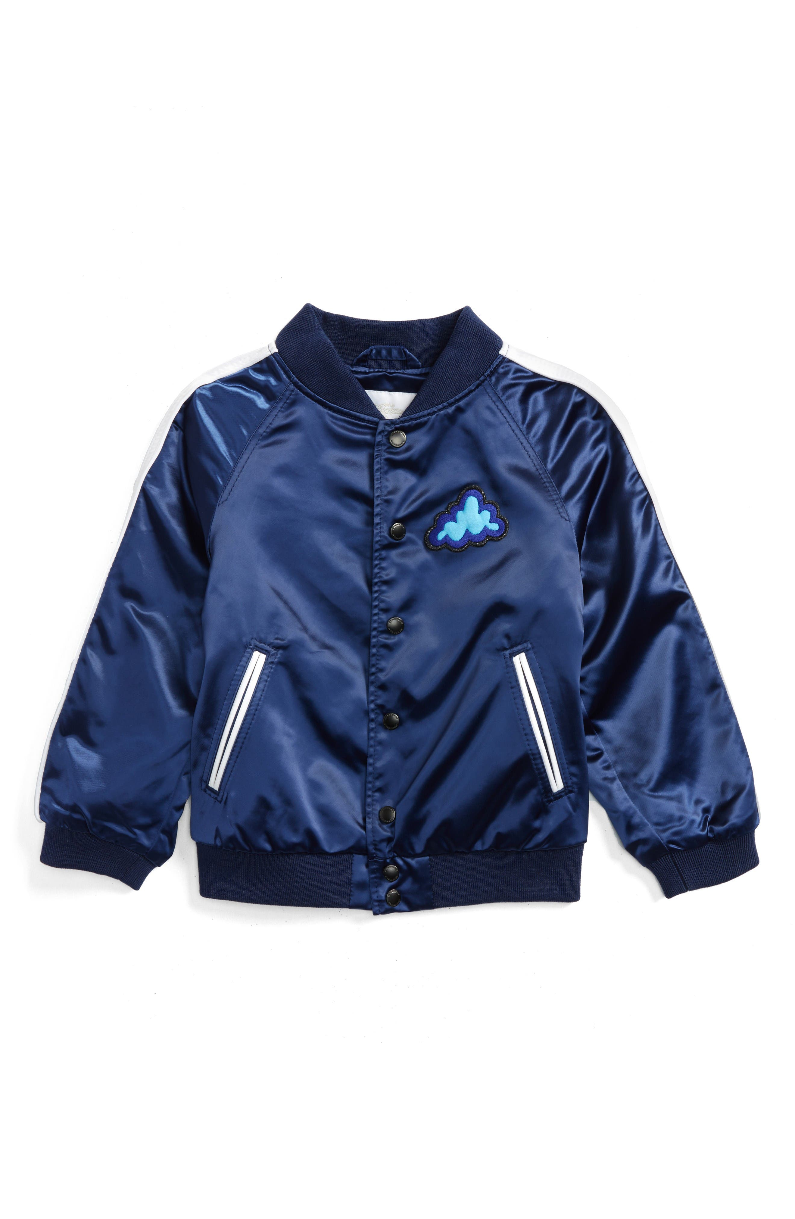 BURBERRY Lidington Weather Appliqué Bomber Jacket