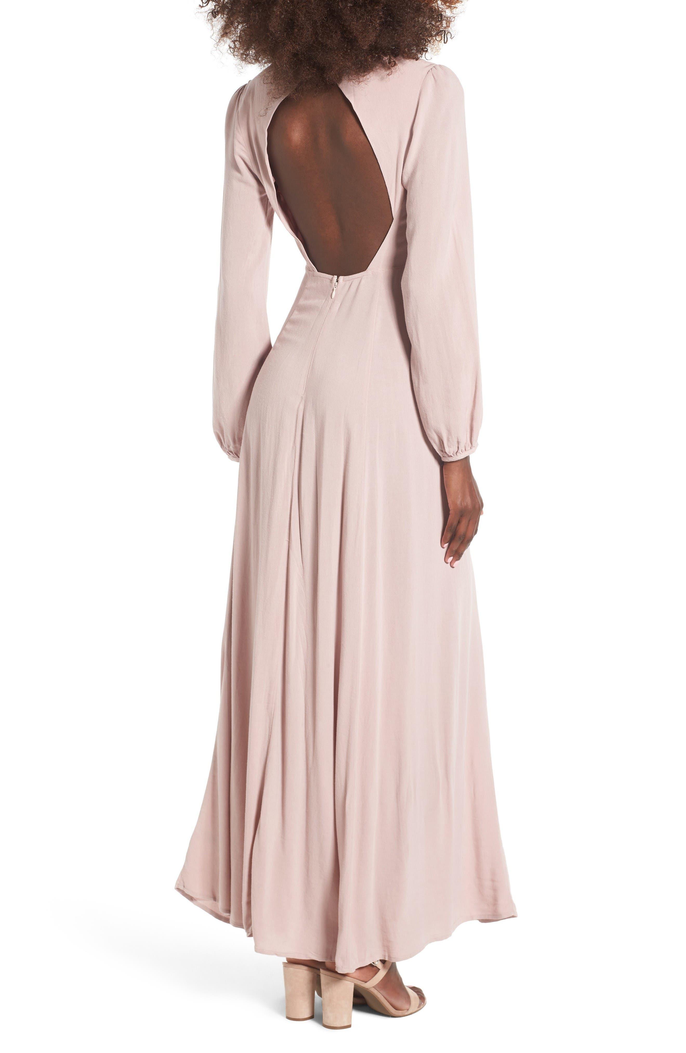 Alternate Image 2  - Lush Open Back Woven Maxi Dress