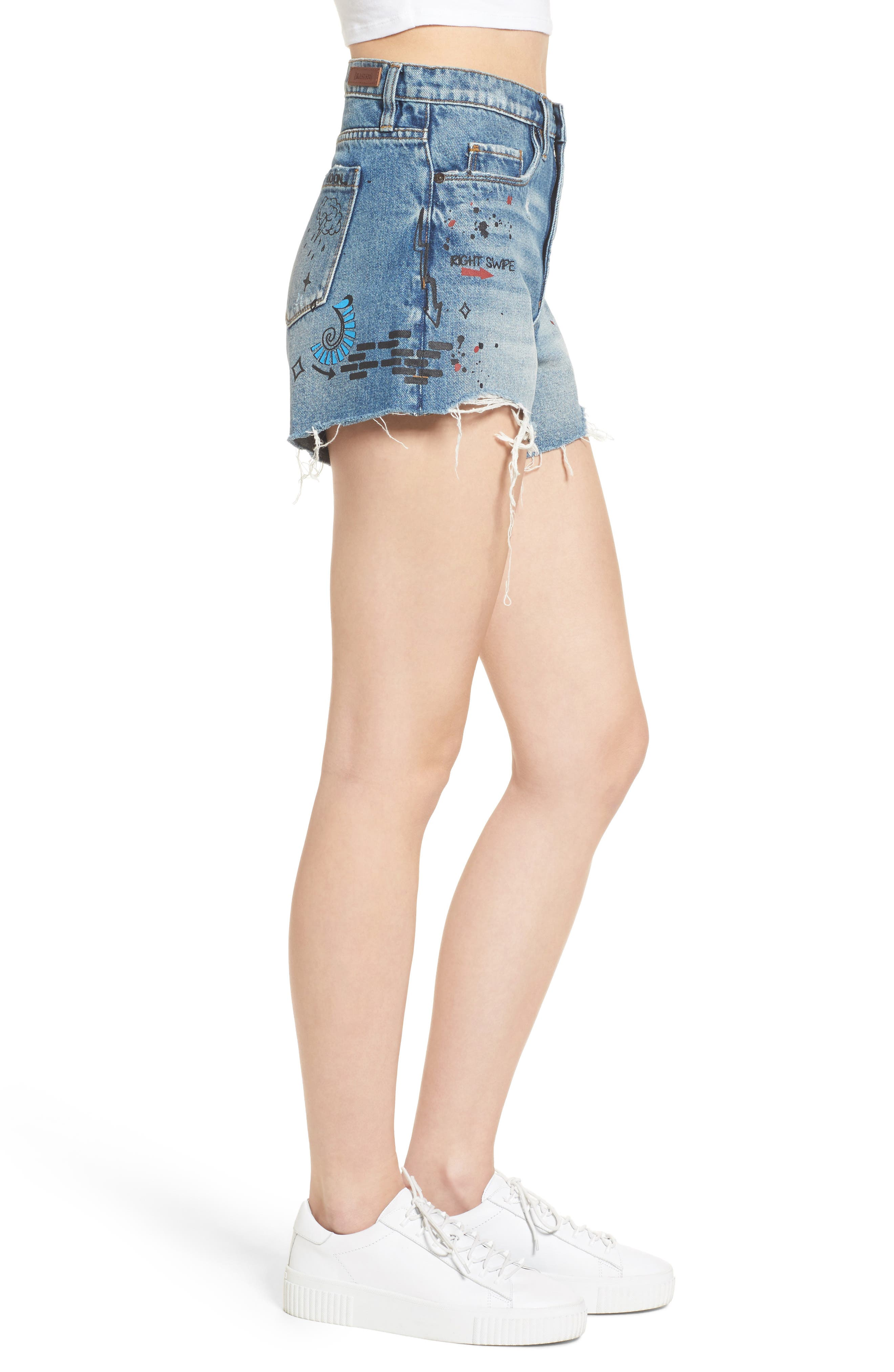 Alternate Image 3  - BLANKNYC Ms. Throwback Cutoff Denim Shorts
