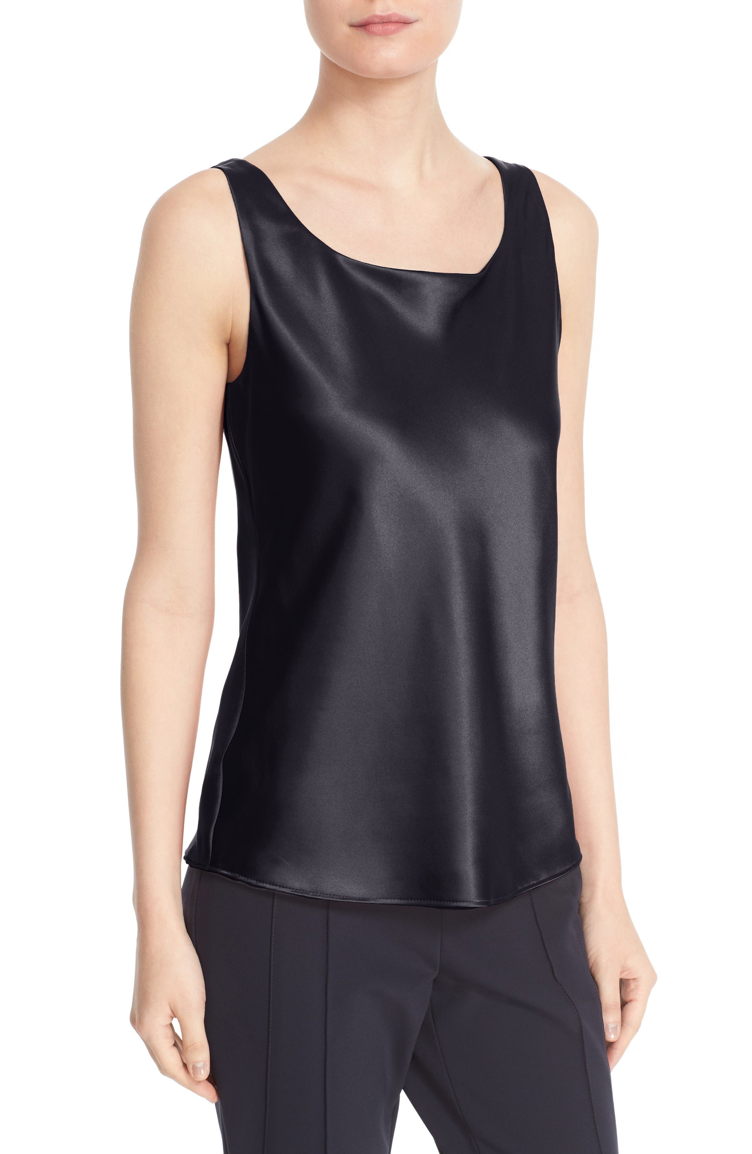 Alternate Image 6  - Lafayette 148 New York Reversible Refined Silk Charmeuse Tank (Regular & Petite)
