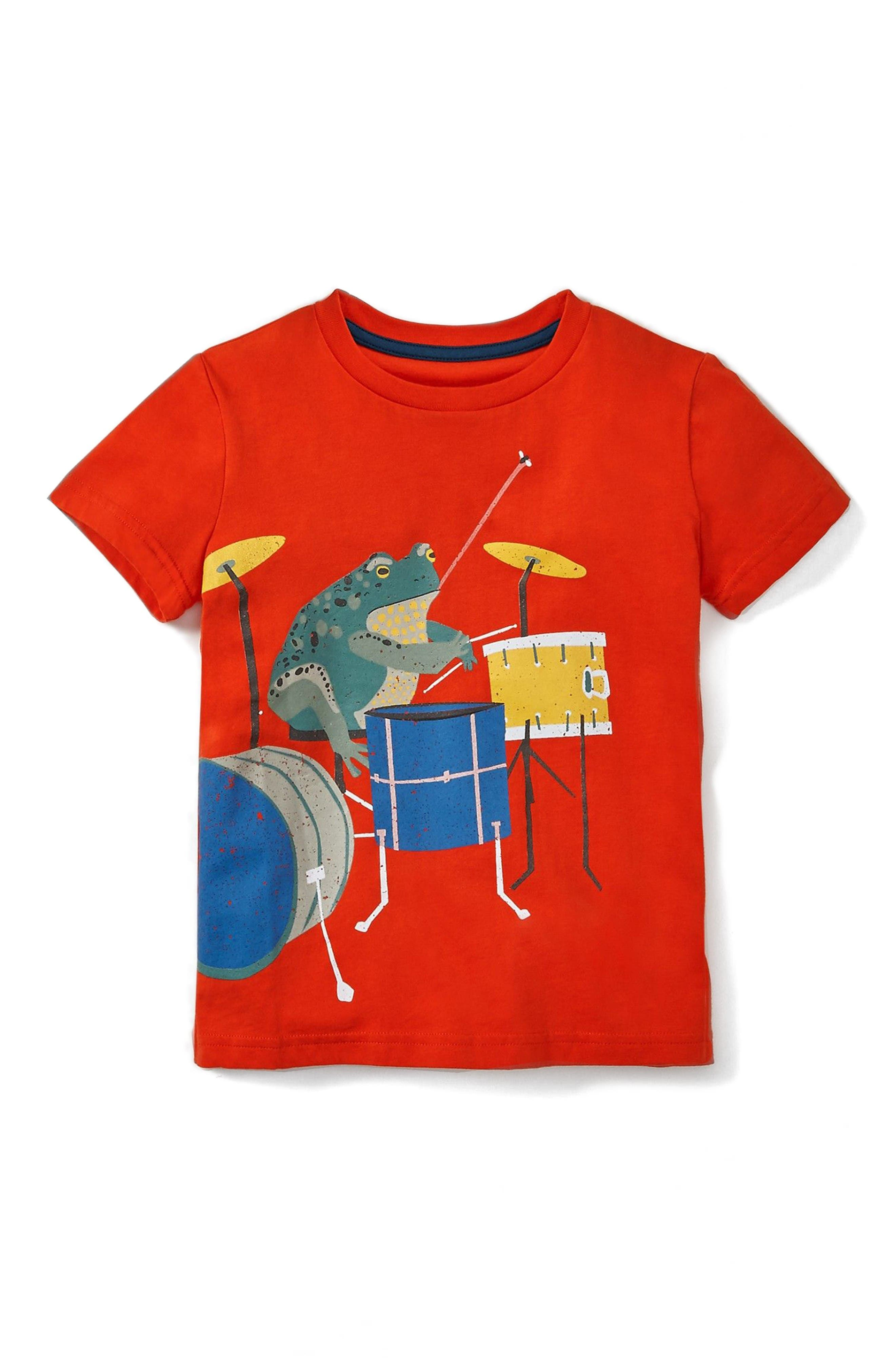 MINI BODEN Musical Animals Graphic T-Shirt