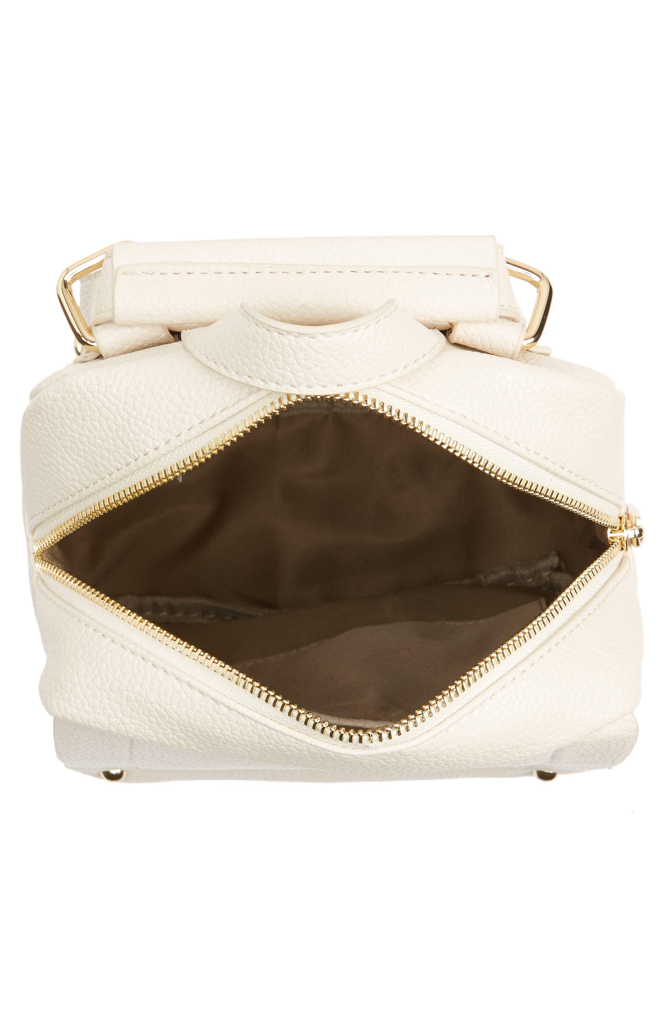 Alternate Image 4  - Girly Faux Leather Flap Mini Backpack