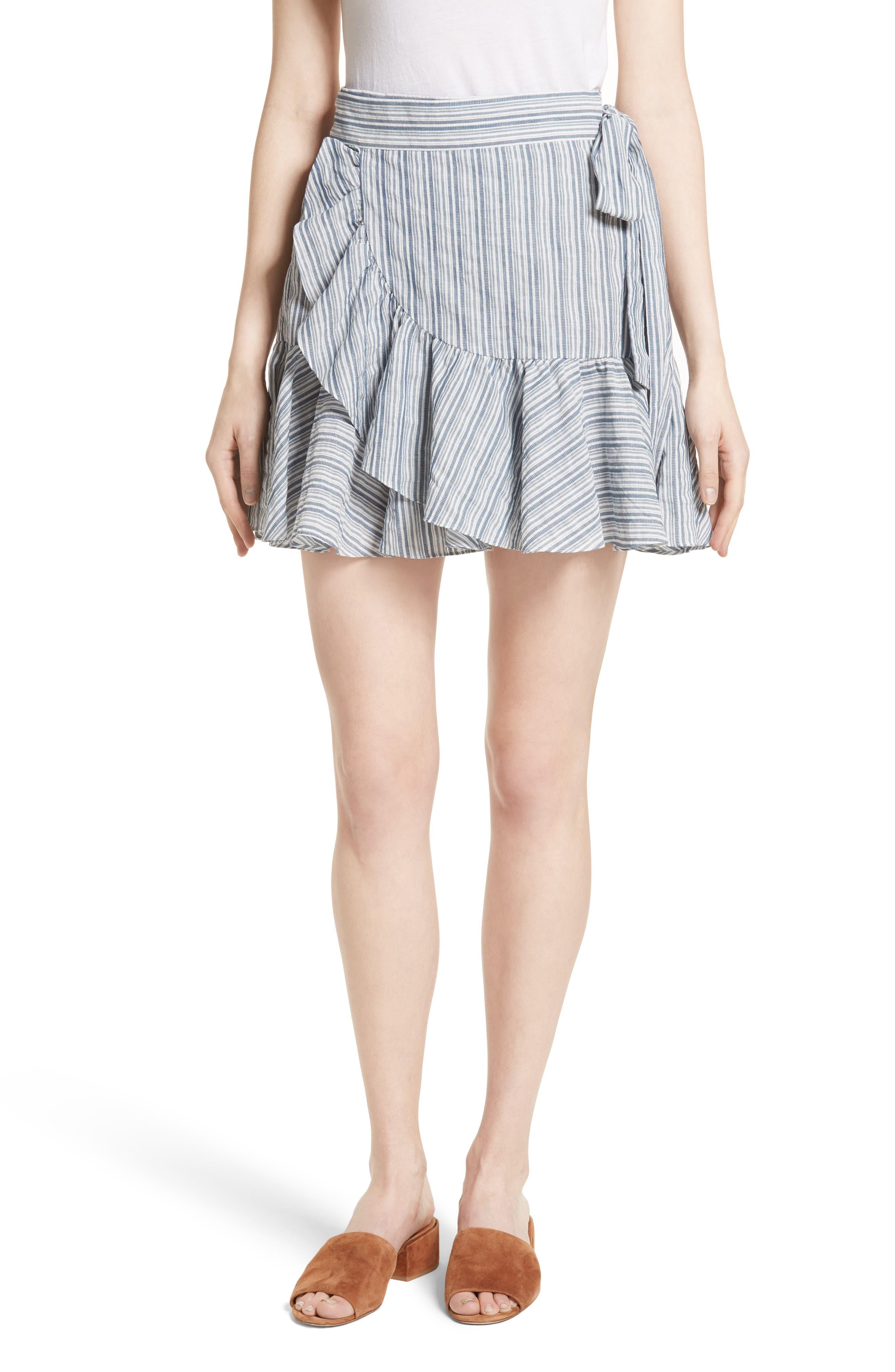 Rebecca Taylor Stripe Wrap Skirt