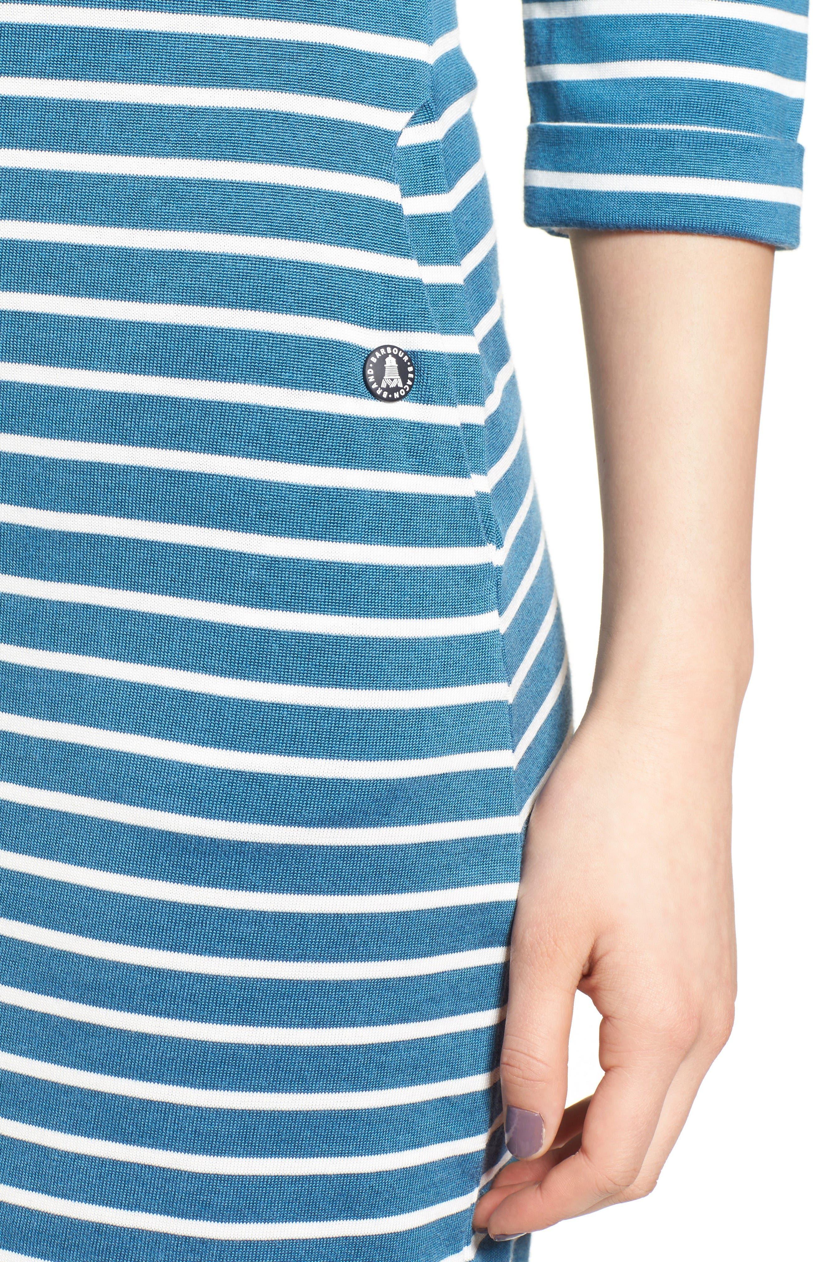 Alternate Image 4  - Barbour Wharf Stripe Jersey Dress