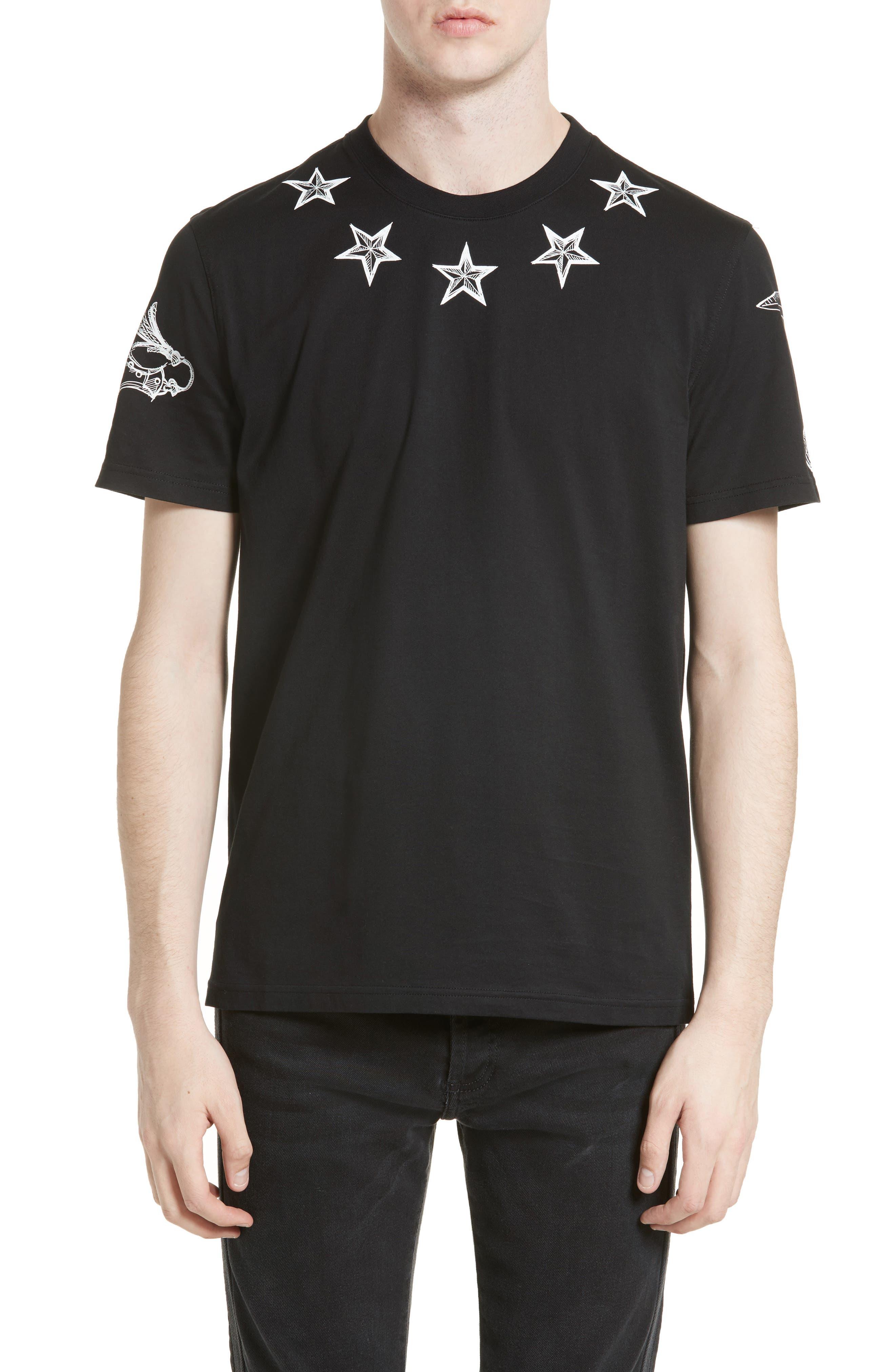 Givenchy Tattoo Print Cuban Fit T-Shirt