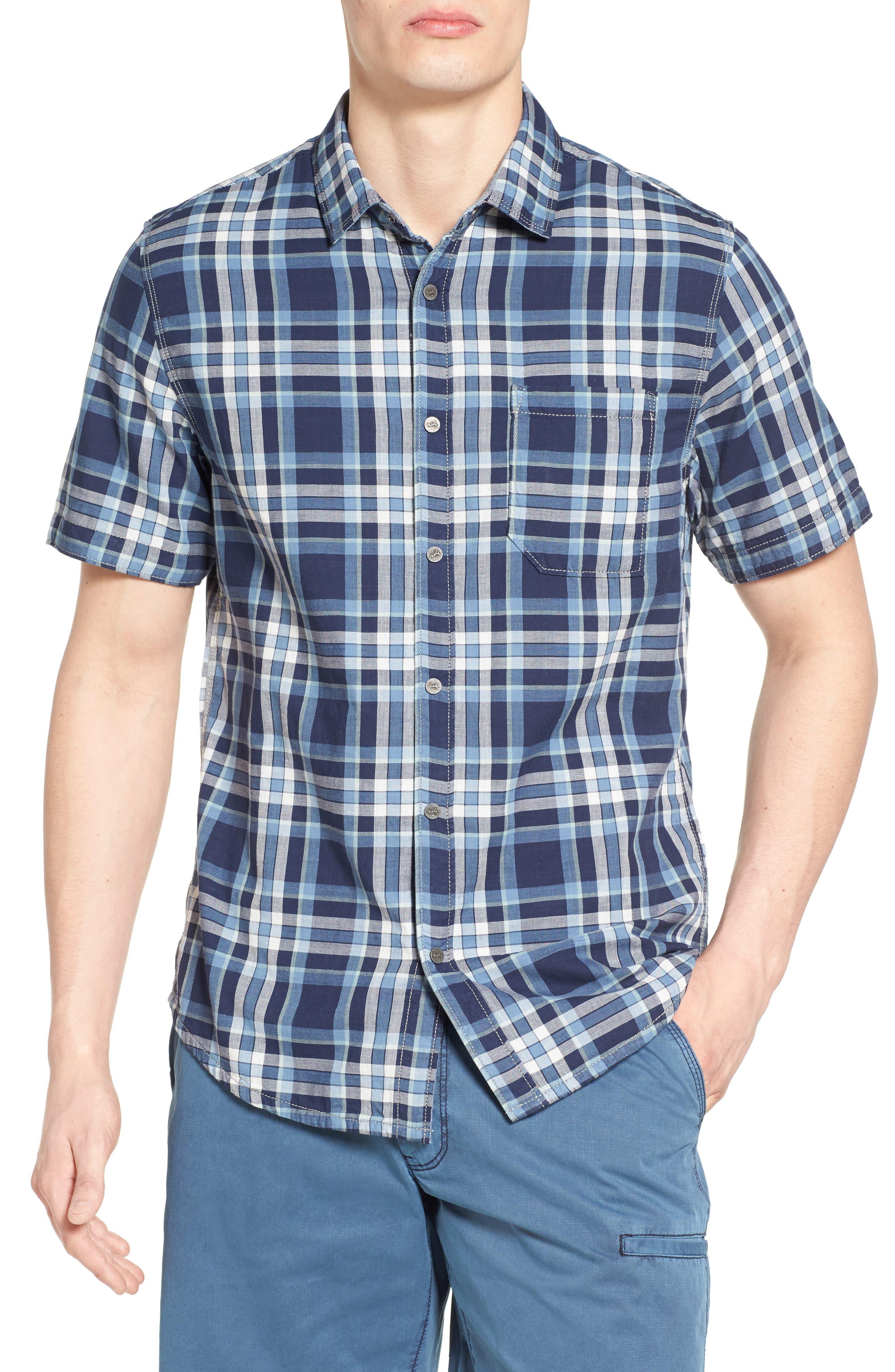 Jeremiah Carr Regular Fit Reversible Plaid Sport Shirt