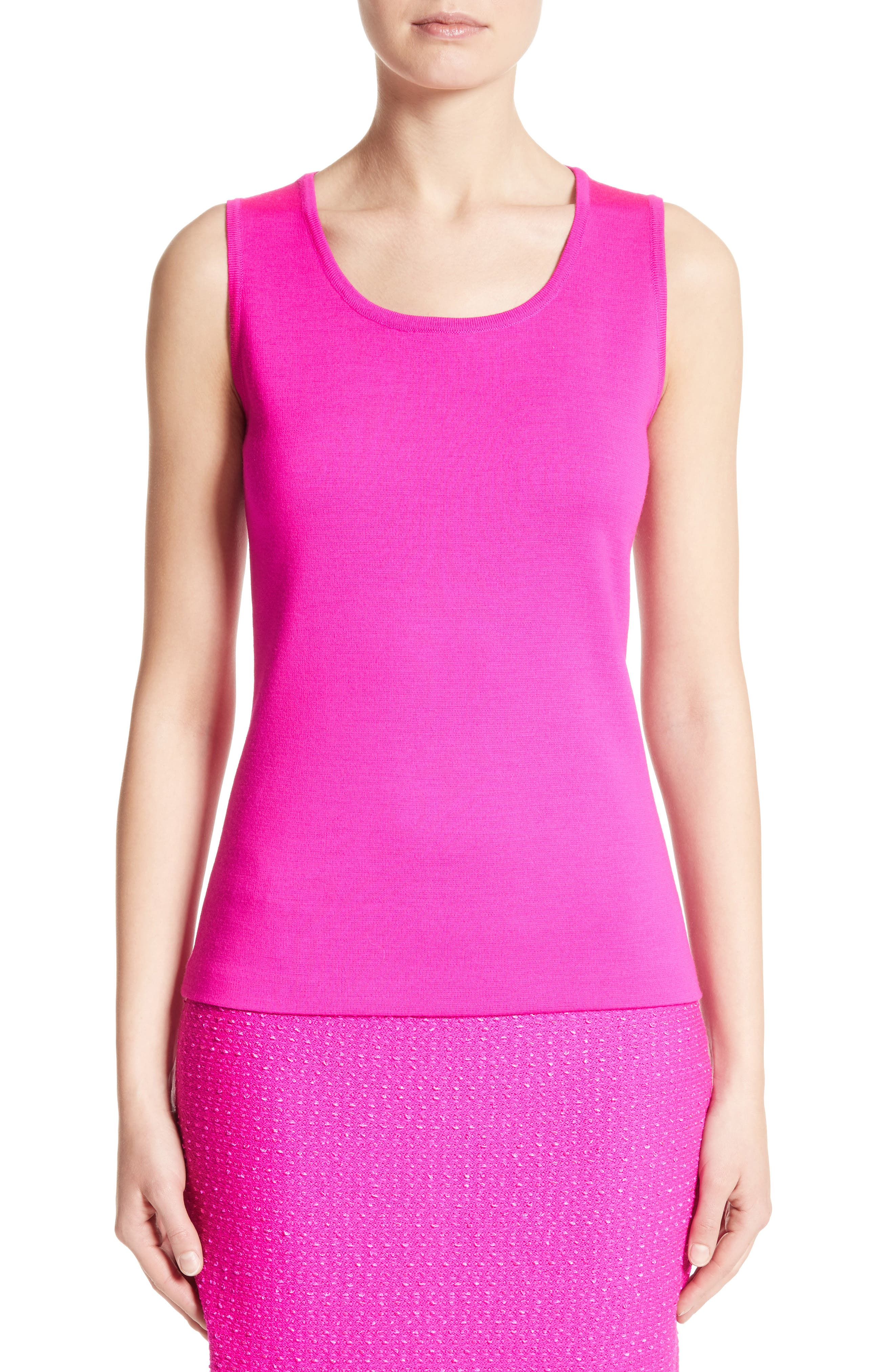 St. John Collection Milano Knit Contour Shell