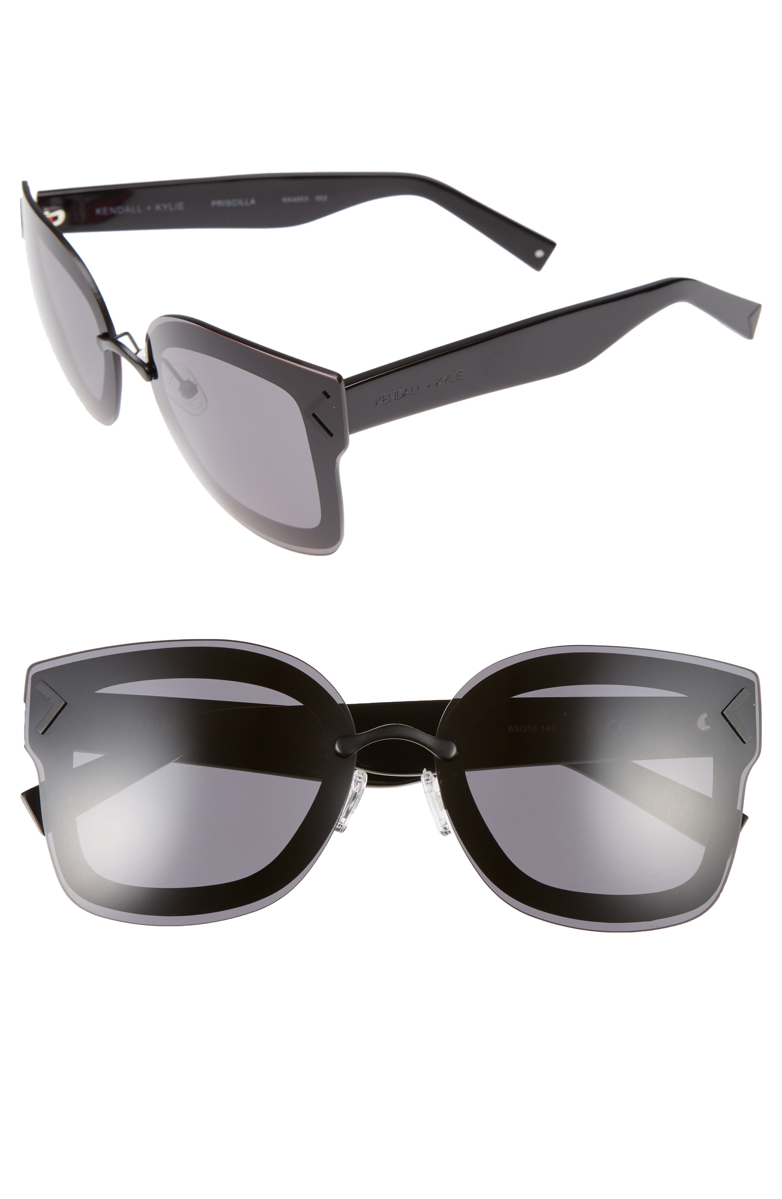KENDALL + KYLIE Priscilla 65mm Butterfly Sunglasses
