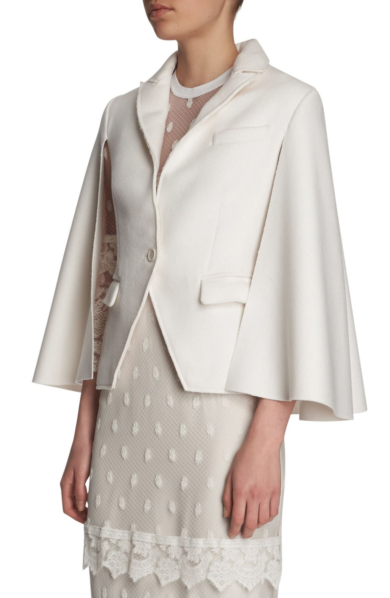 Alternate Image 3  - Burberry Wool Cape Jacket