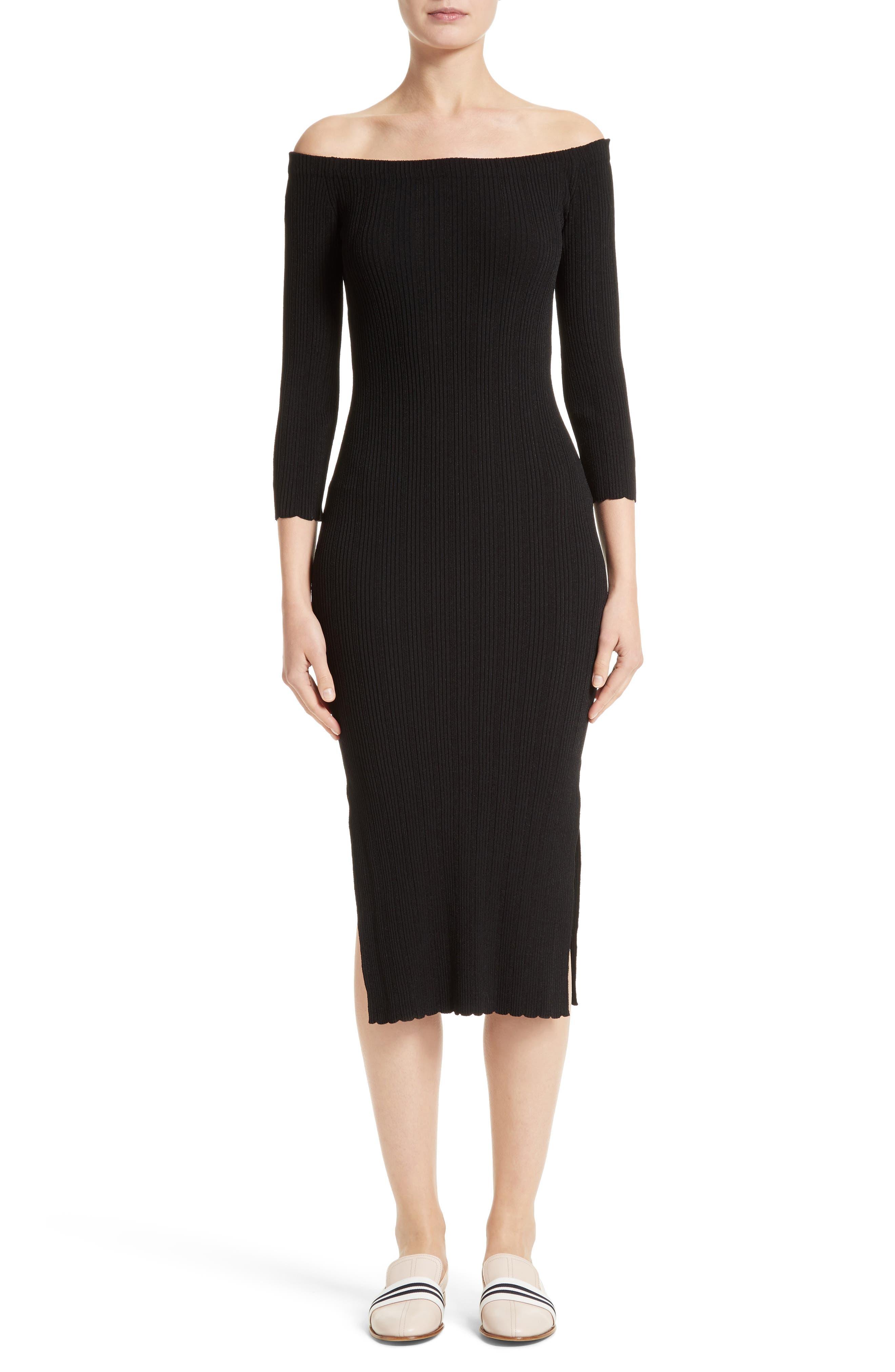 rag & bone Kari Knit Off the Shoulder Dress