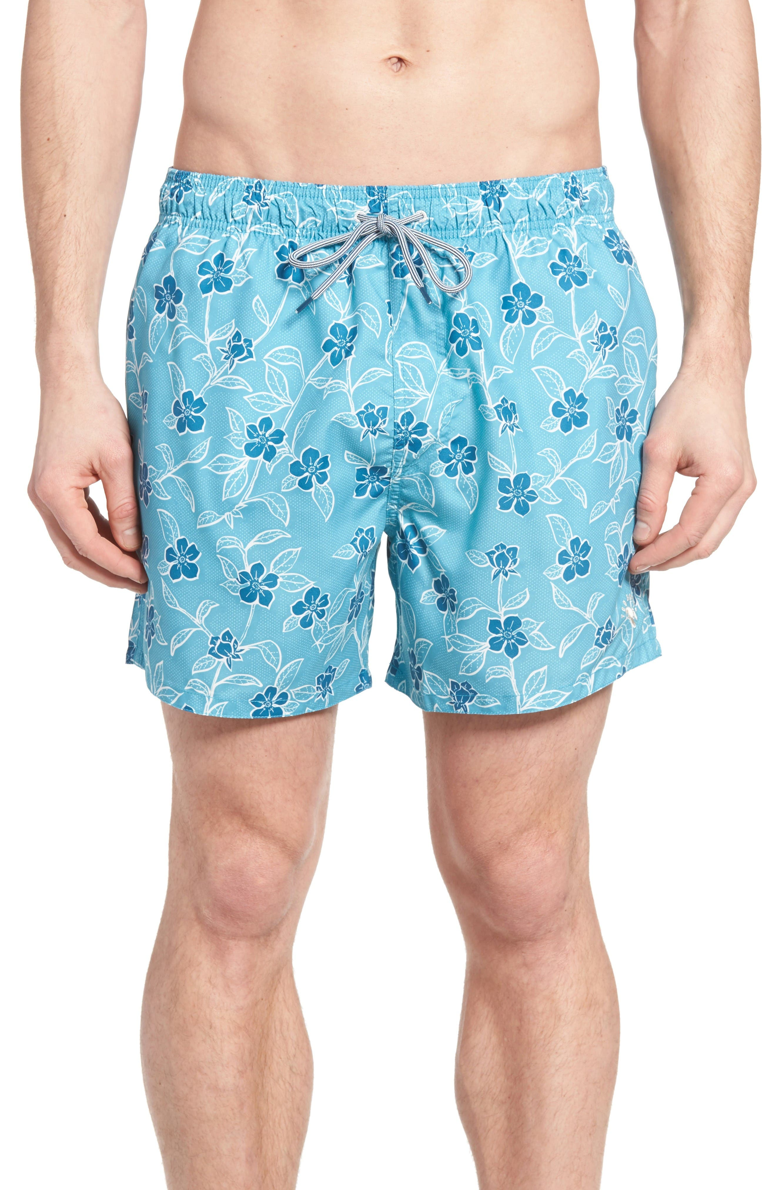Ted Baker London Winda Floral Print Swim Trunks