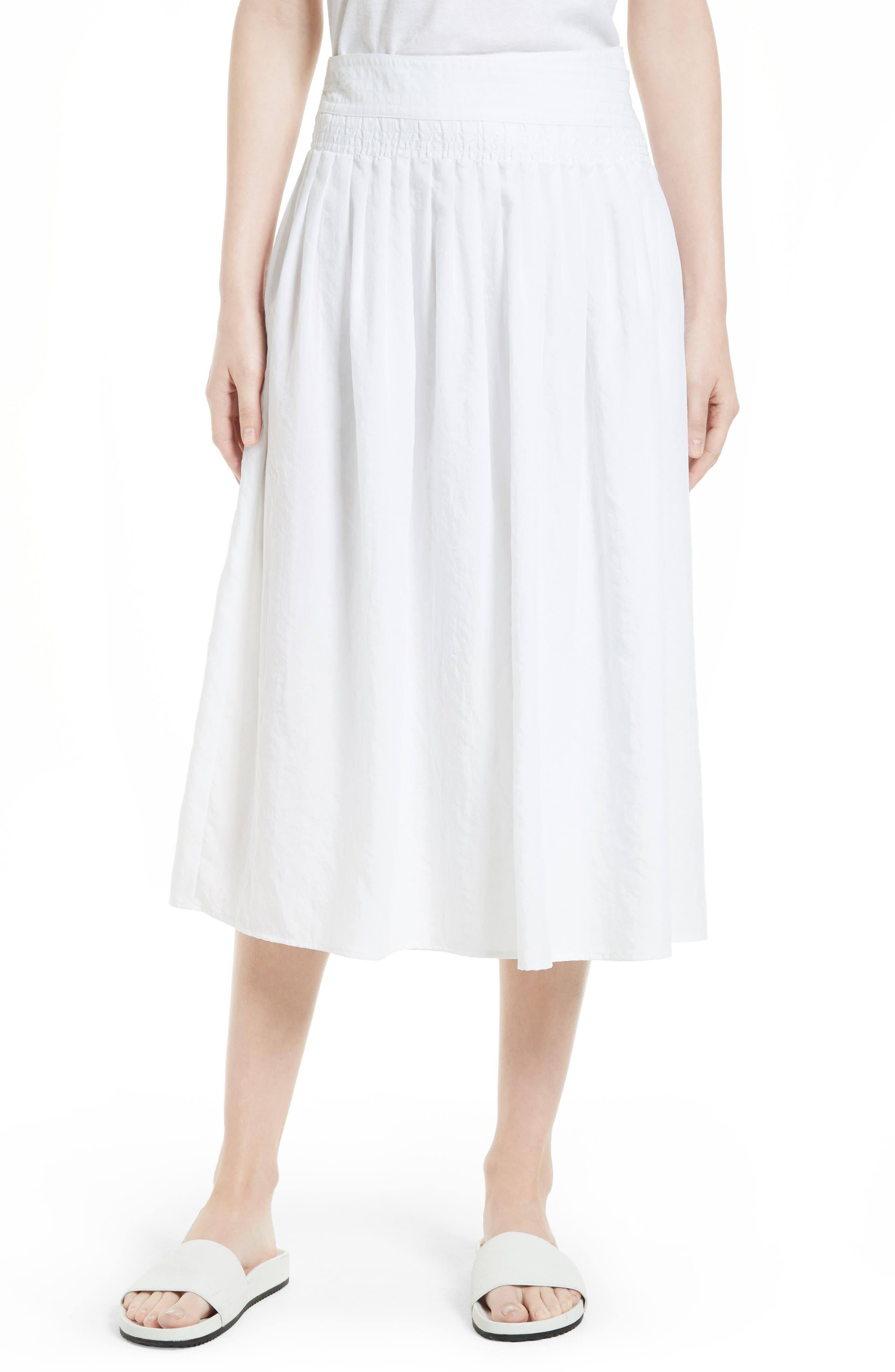 Vince Pleated Wrap Skirt