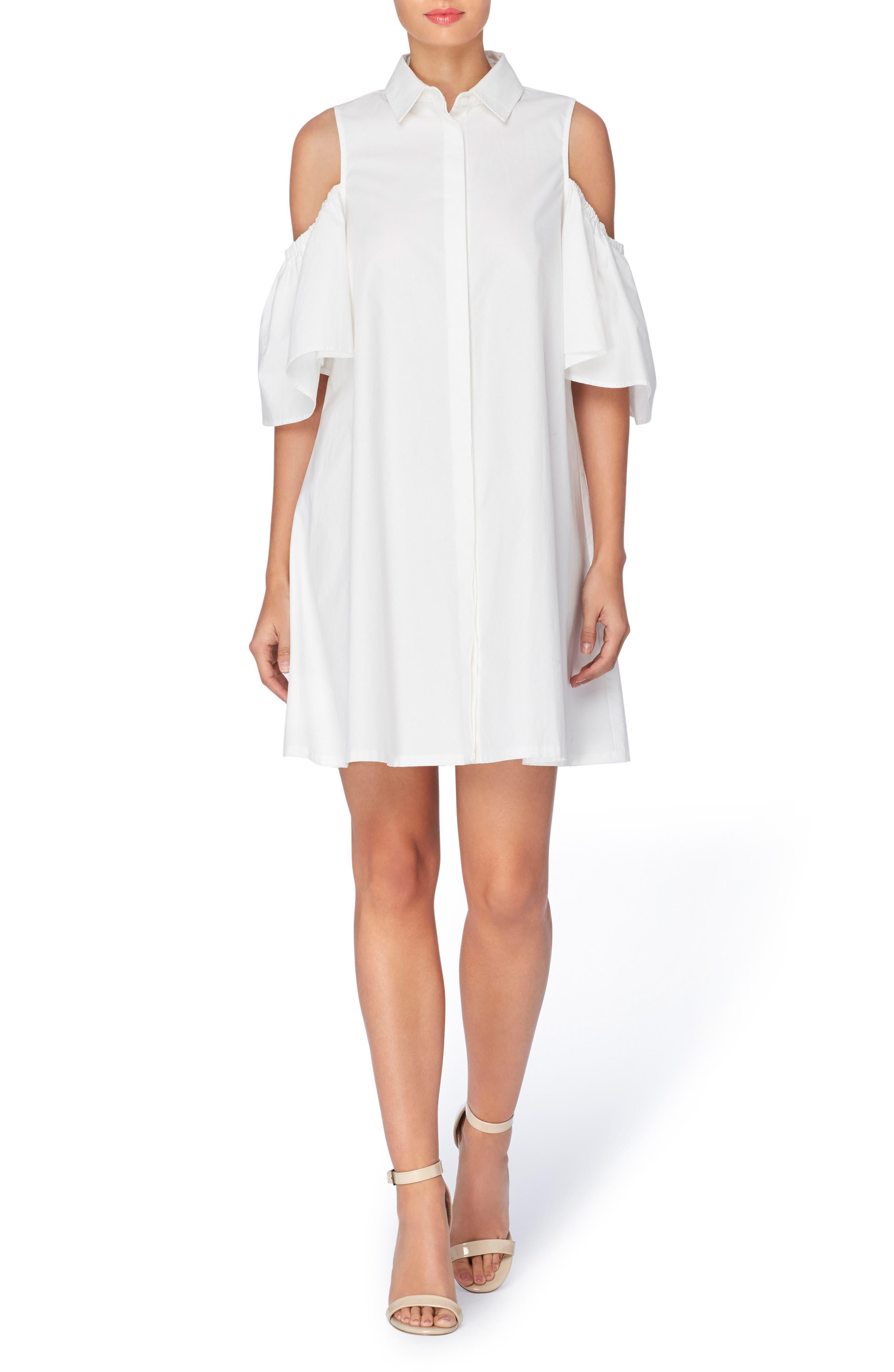 Alternate Image 1 Selected - Catherine Catherine Malandrino Zito Cold Shoulder Shirtdress