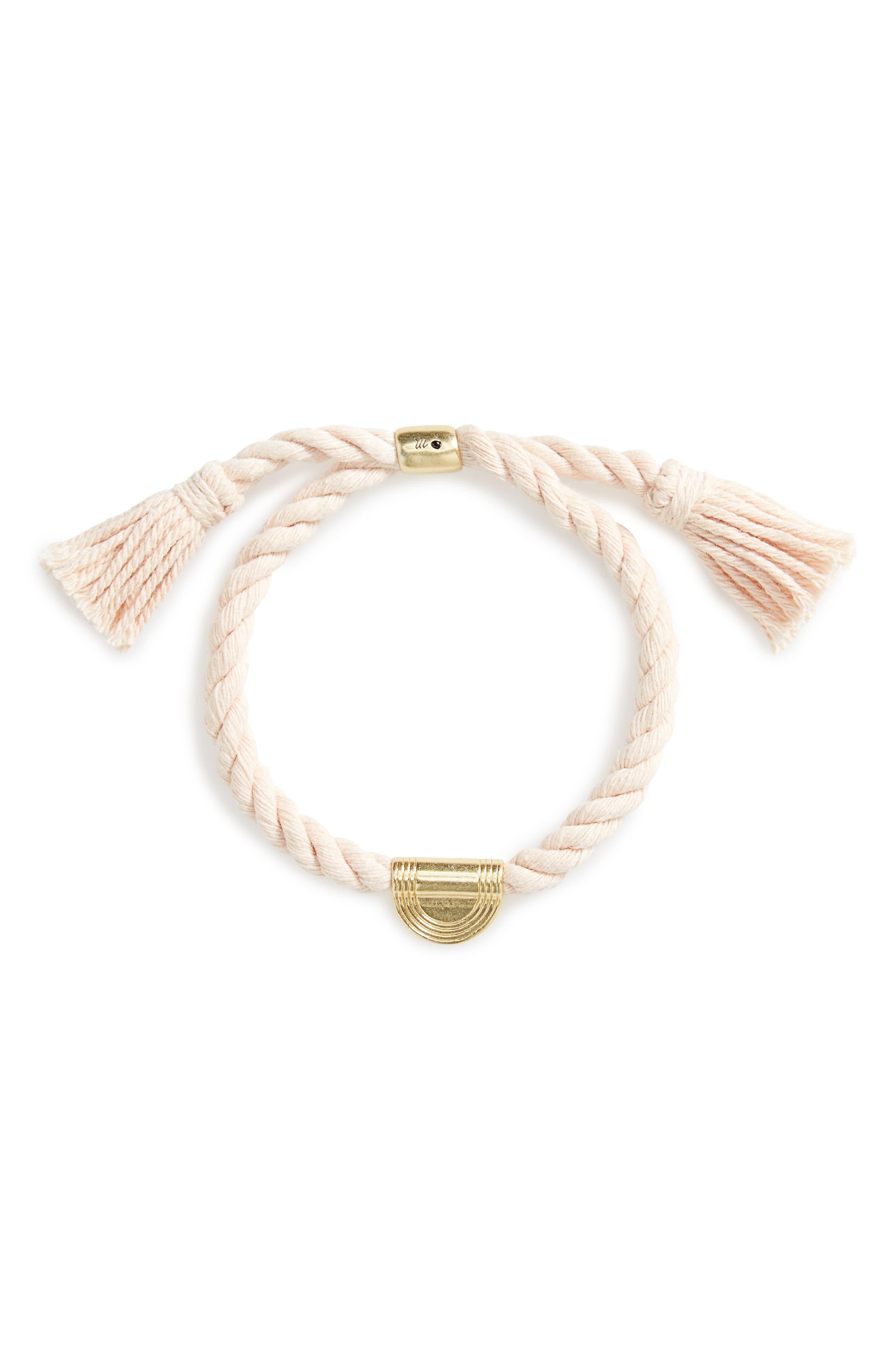 Madewell Cord Tassel Bracelet