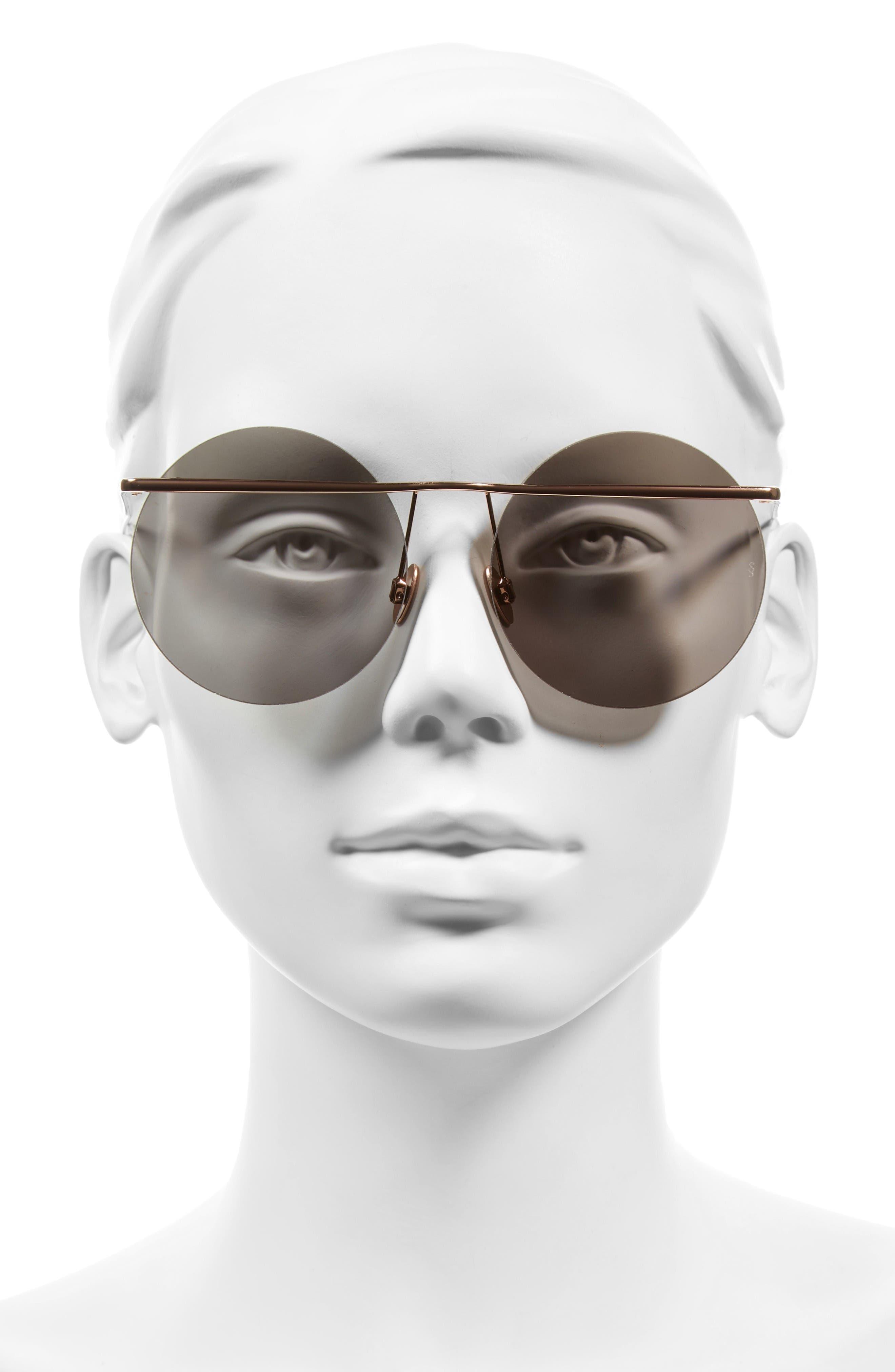 Alternate Image 2  - SUNDAY SOMEWHERE Minggu 57mm Round Rimless Sunglasses