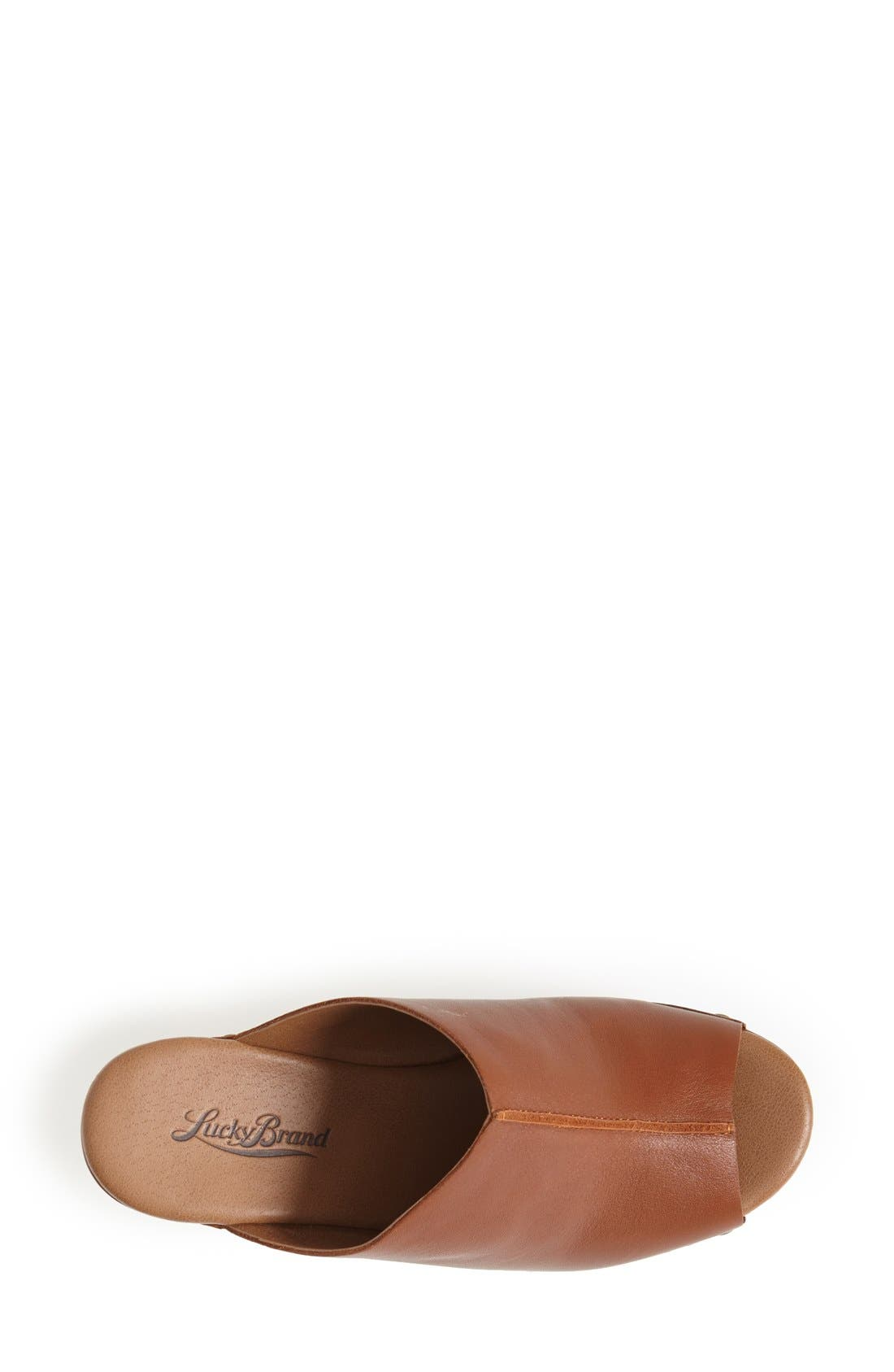 Alternate Image 3  - Lucky Brand 'Lucky Malayah' Leather Wedge Sandal (Women)