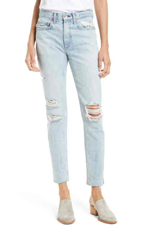 rag   bone/JEAN Marilyn High Waist Boyfriend Jeans (Union Pool)