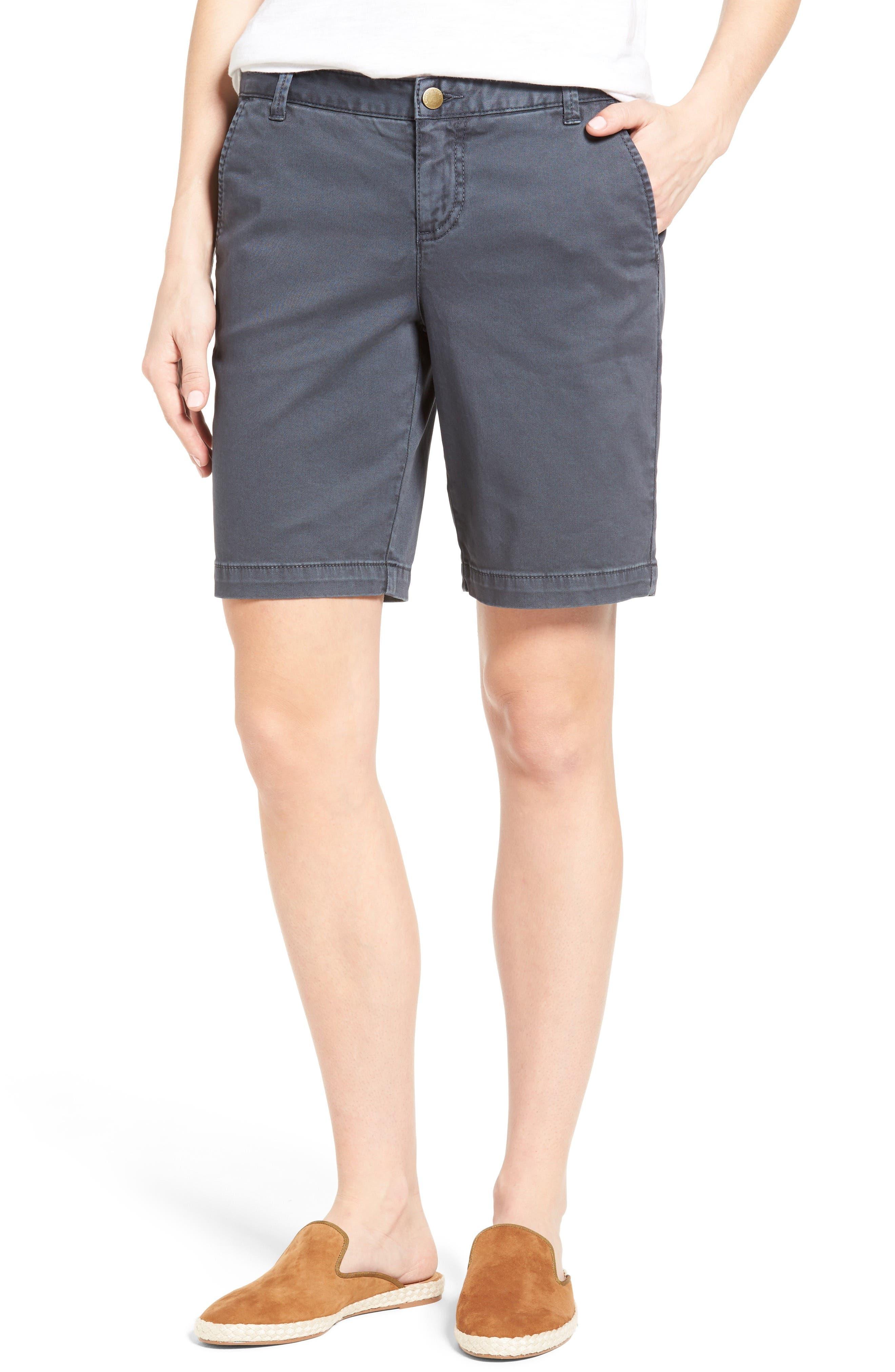 Caslon® Twill Shorts (Regular & Petite)