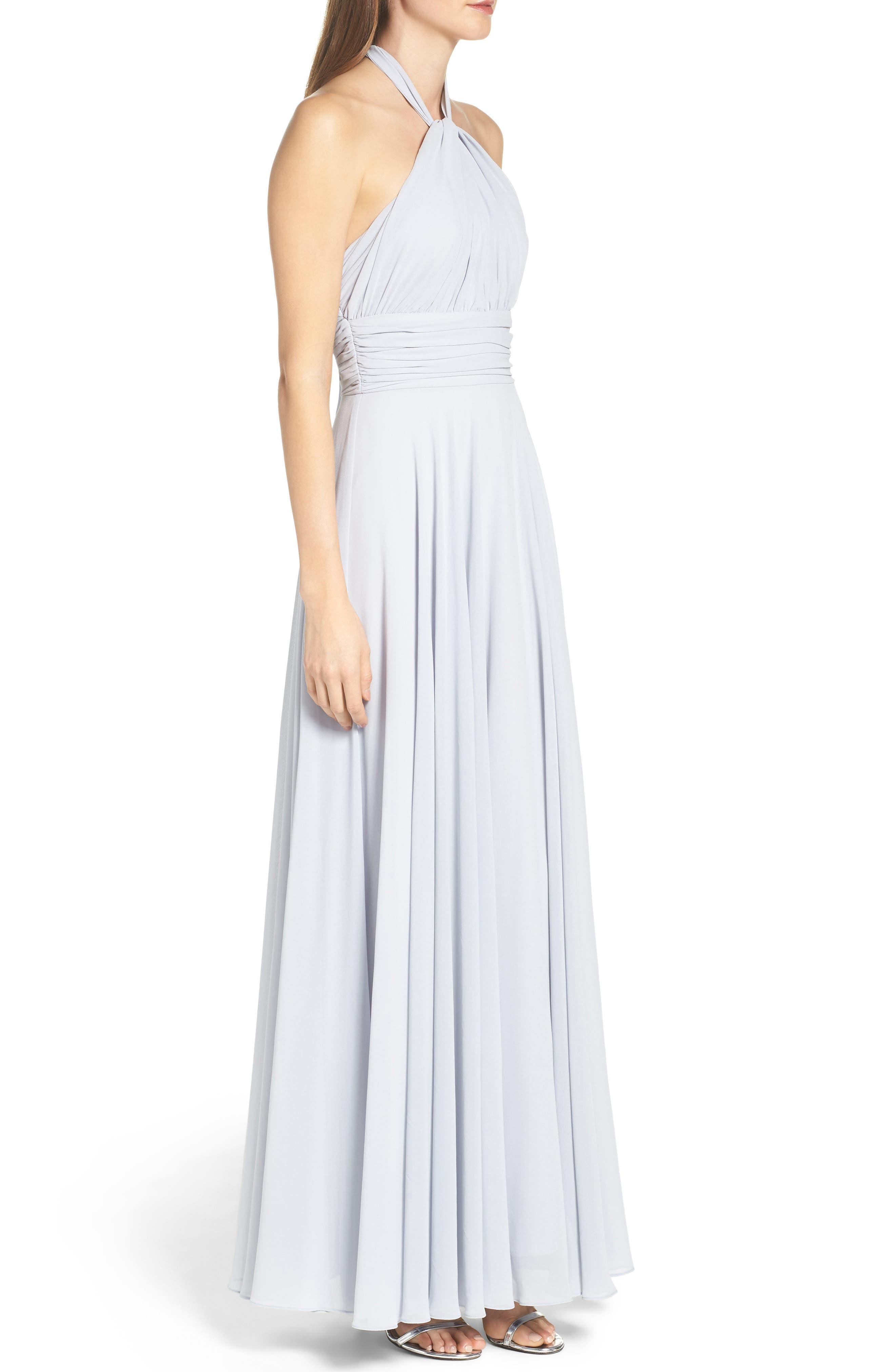 Alternate Image 3  - Lulus Chiffon Halter Gown